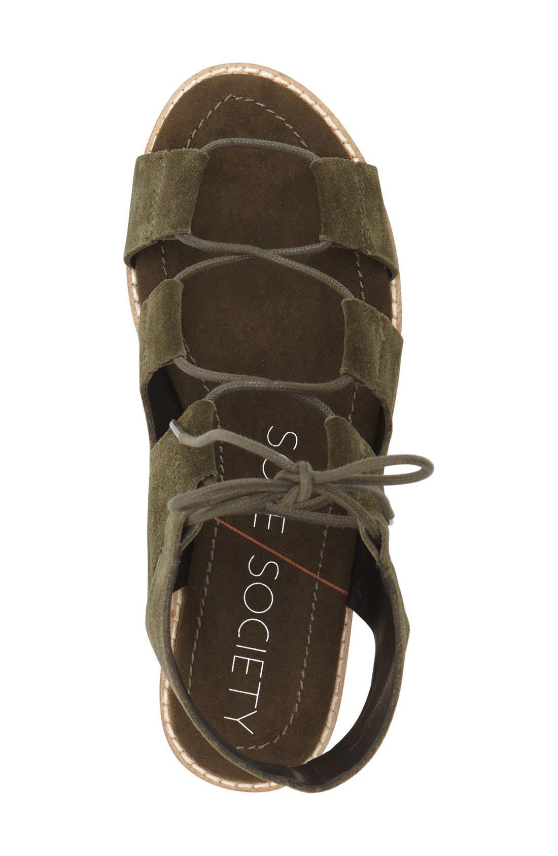 'Cady' Lace-Up Flat Sandal,                             Alternate thumbnail 11, color,