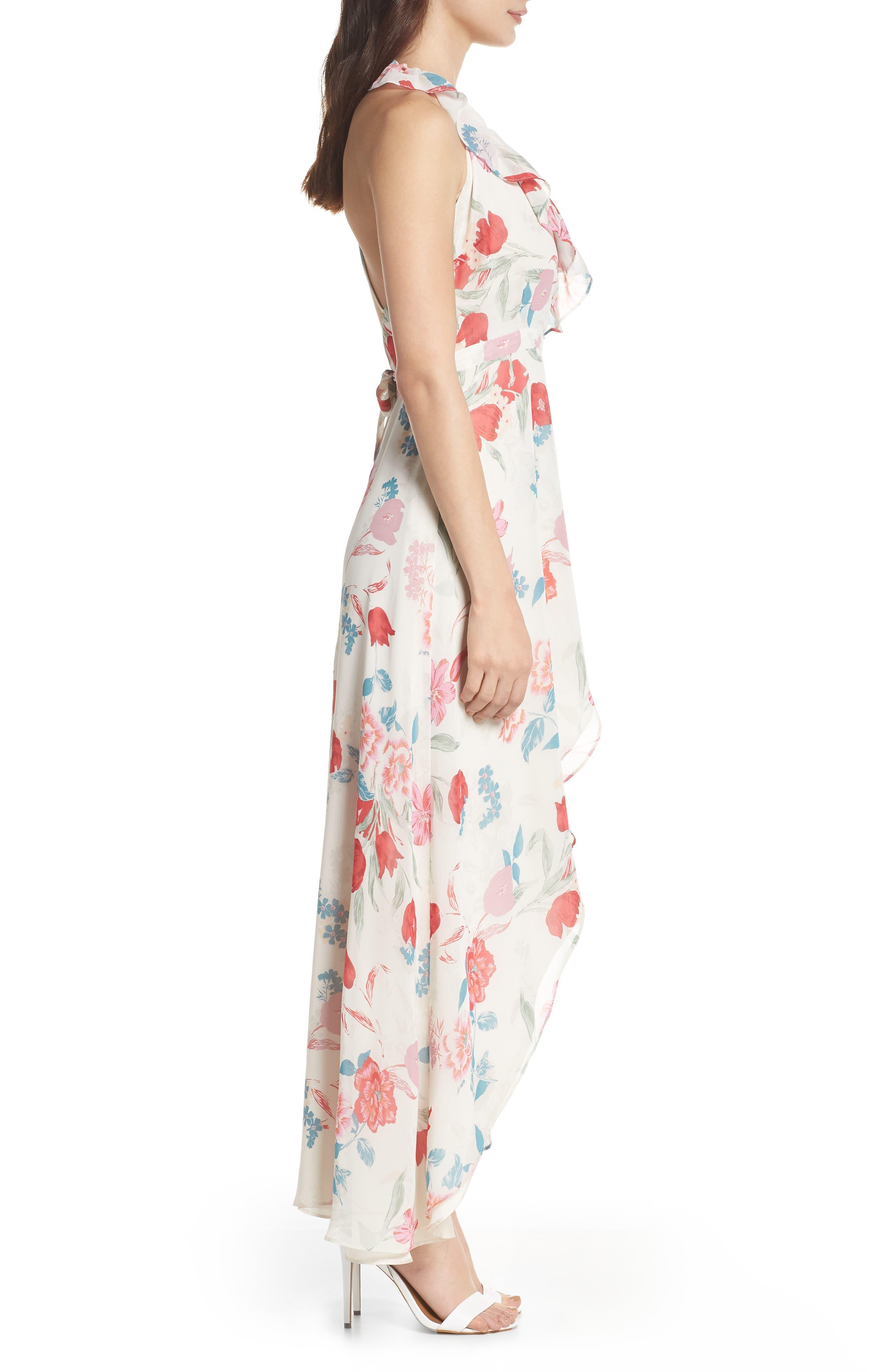 RSVP High/Low Wrap Dress,                             Alternate thumbnail 3, color,                             900