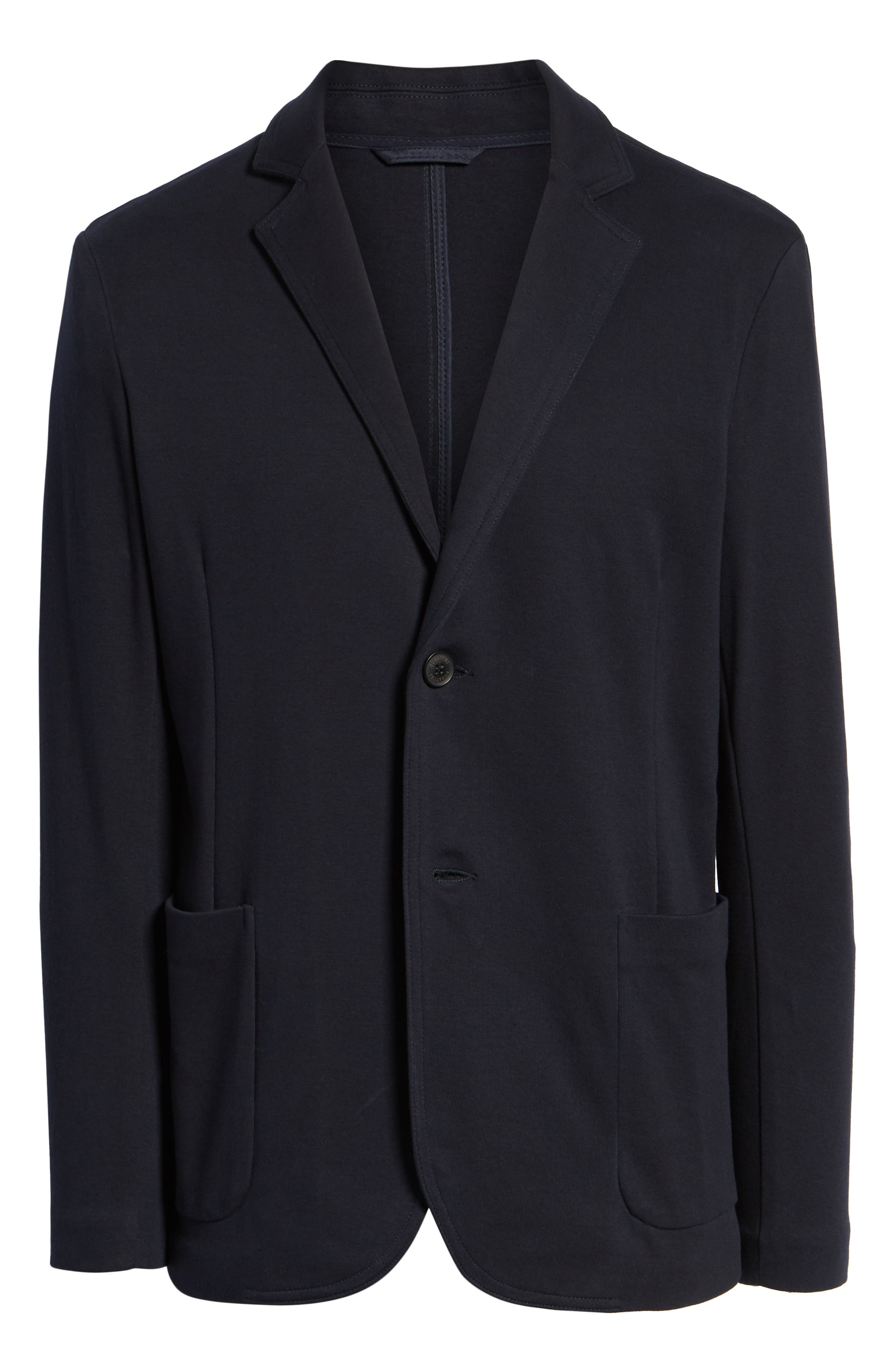 Regular Fit Stretch Cotton Blazer,                             Alternate thumbnail 5, color,                             NAVY