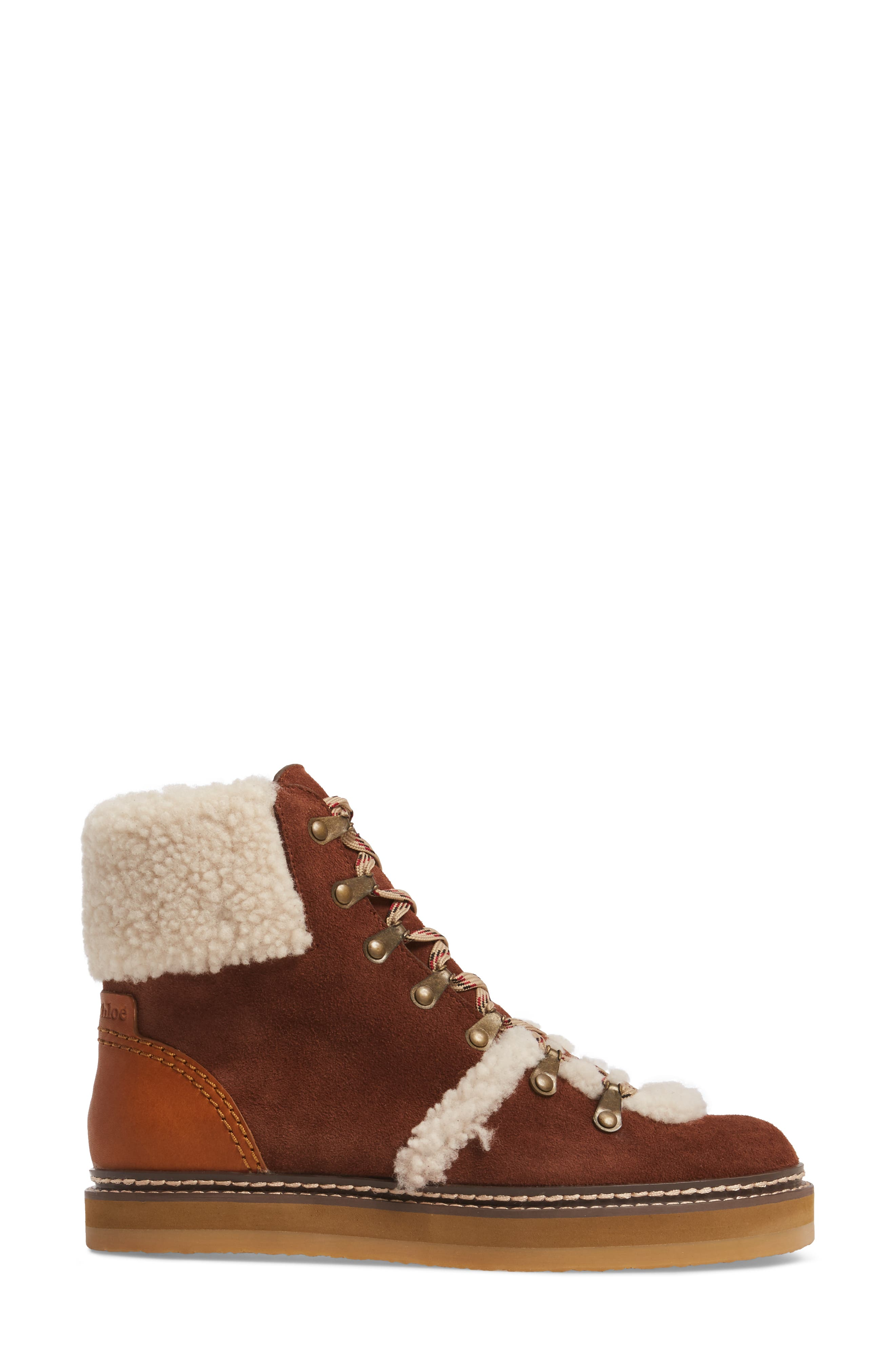 'Eileen' Genuine Shearling Boot,                             Alternate thumbnail 8, color,