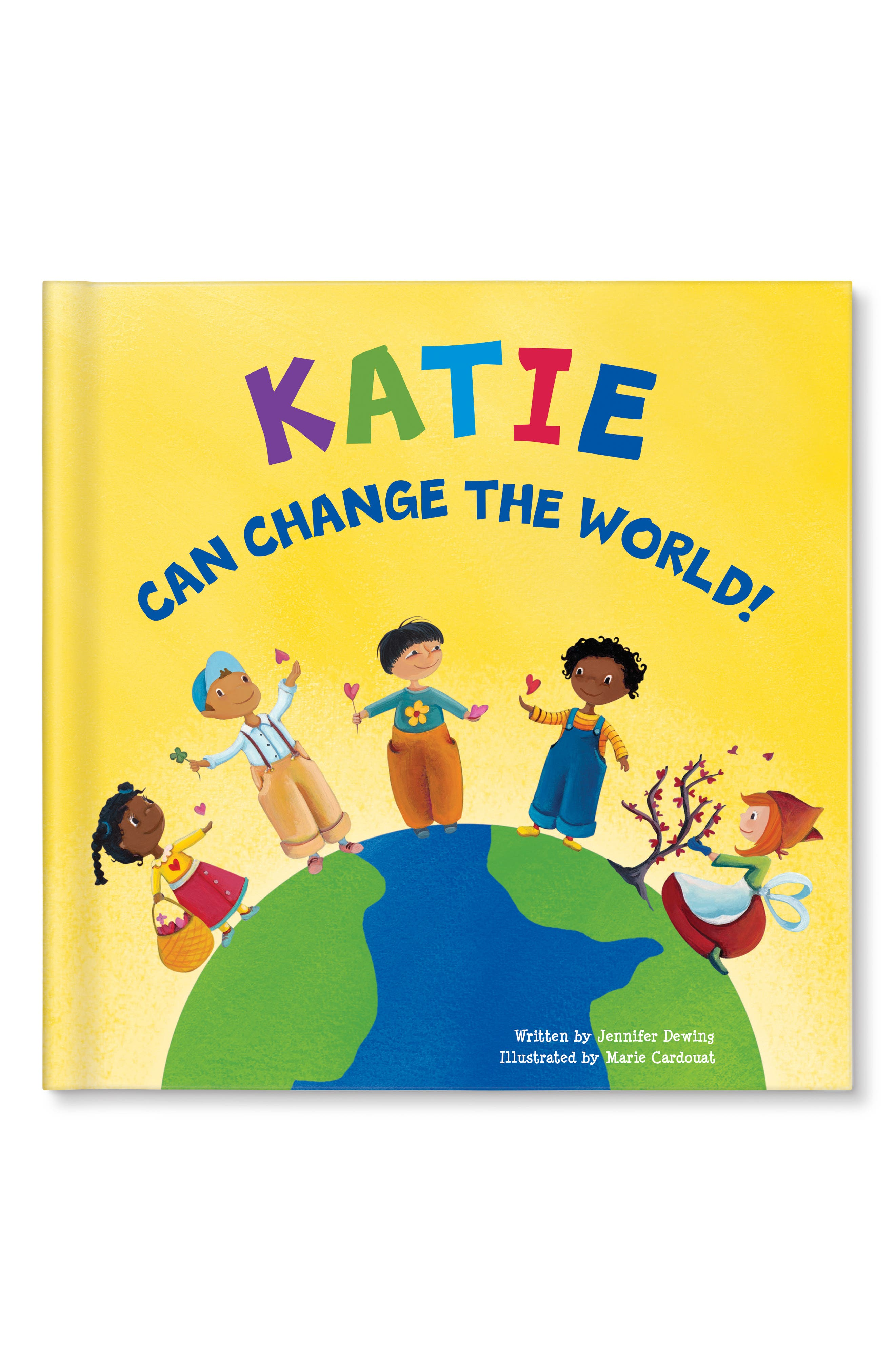 I Can Change The World Personalized Book Size One Size  Yellow