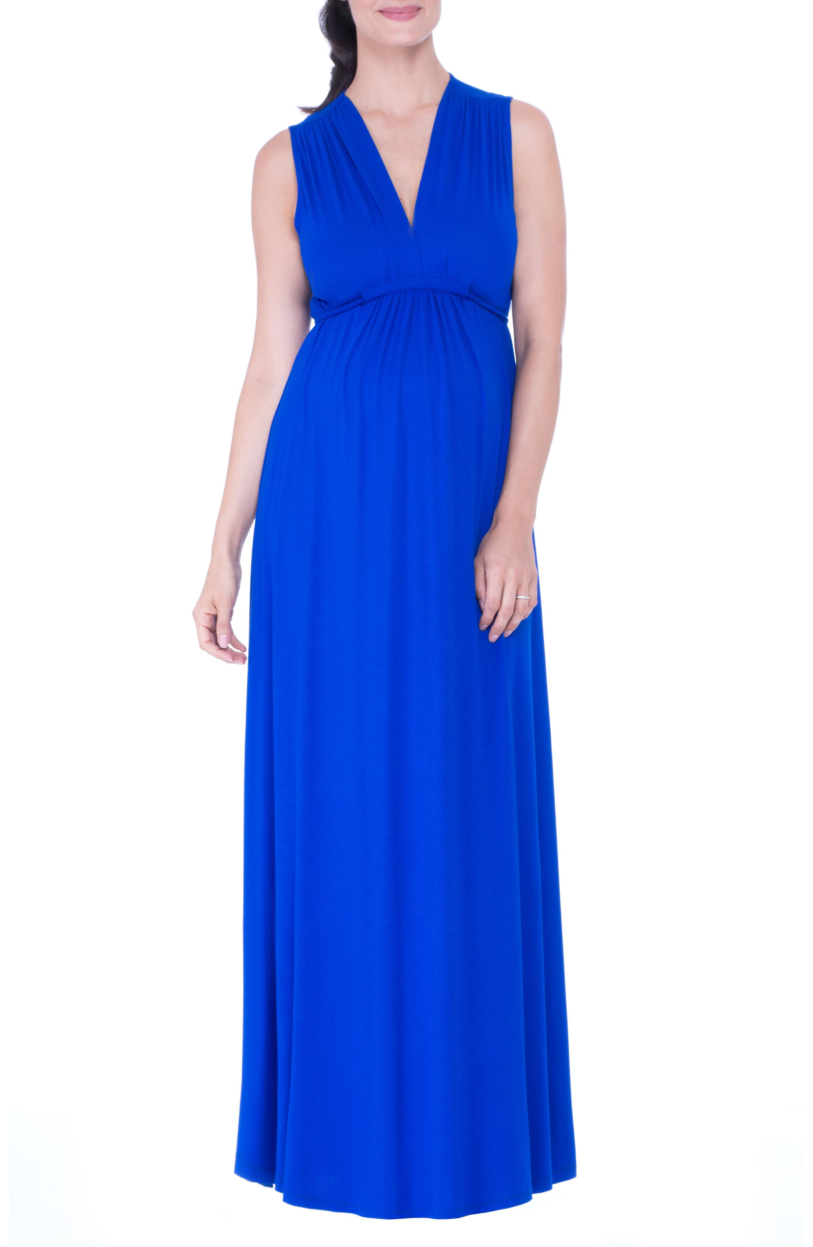 Lucy Maternity Maxi Dress,                         Main,                         color, BLUE