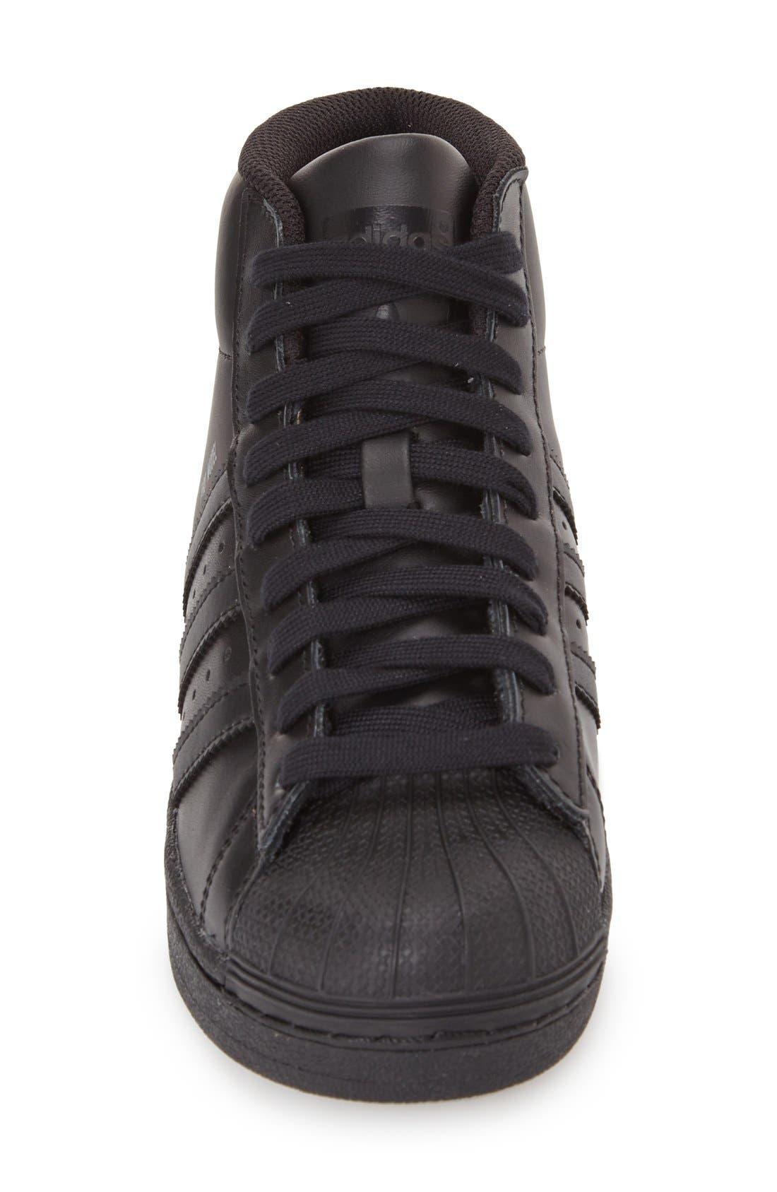 'Pro Model' High Top Sneaker,                             Alternate thumbnail 2, color,                             001
