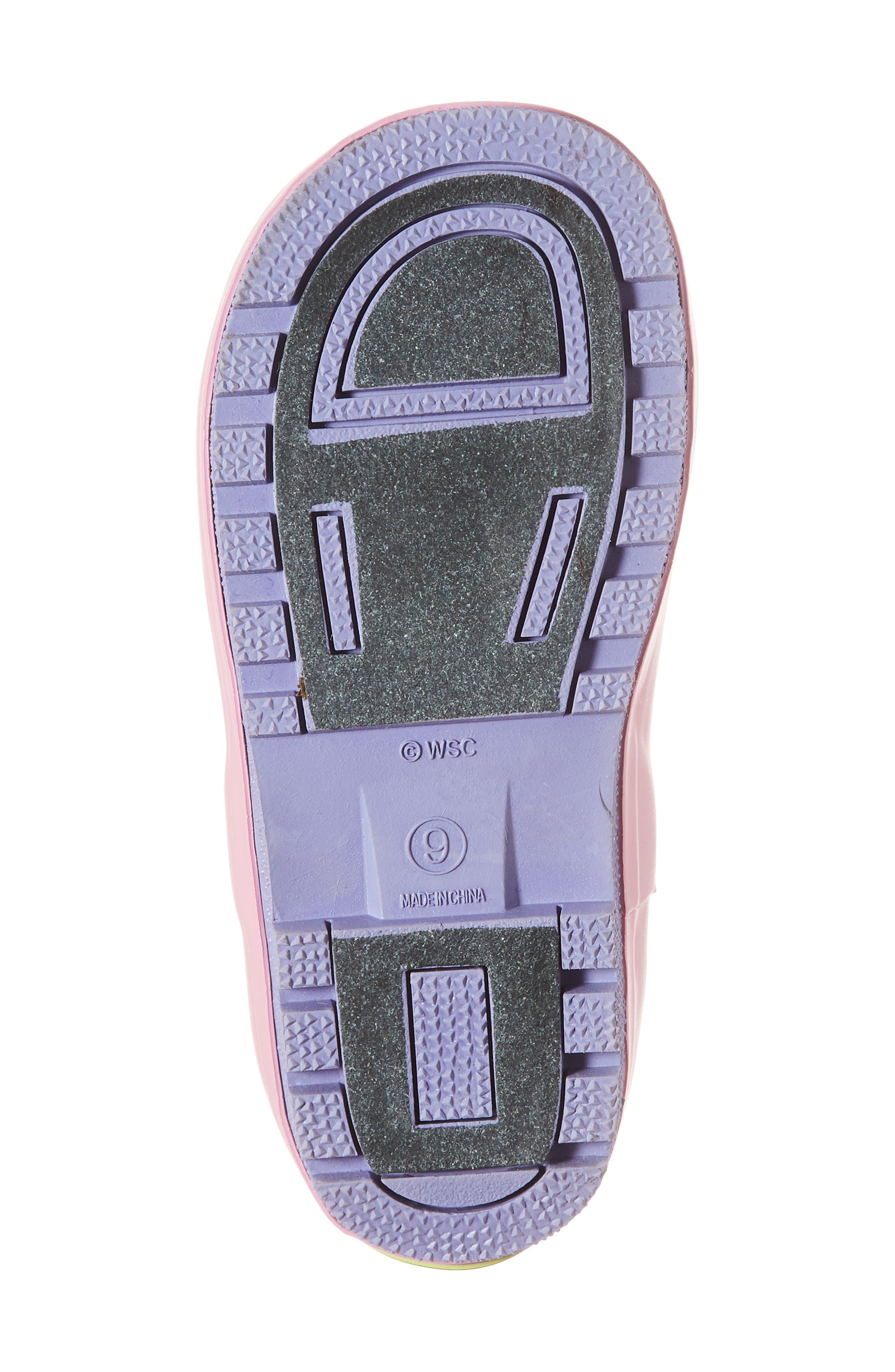Unicorn Play Waterproof Rain Boot,                             Alternate thumbnail 6, color,                             421
