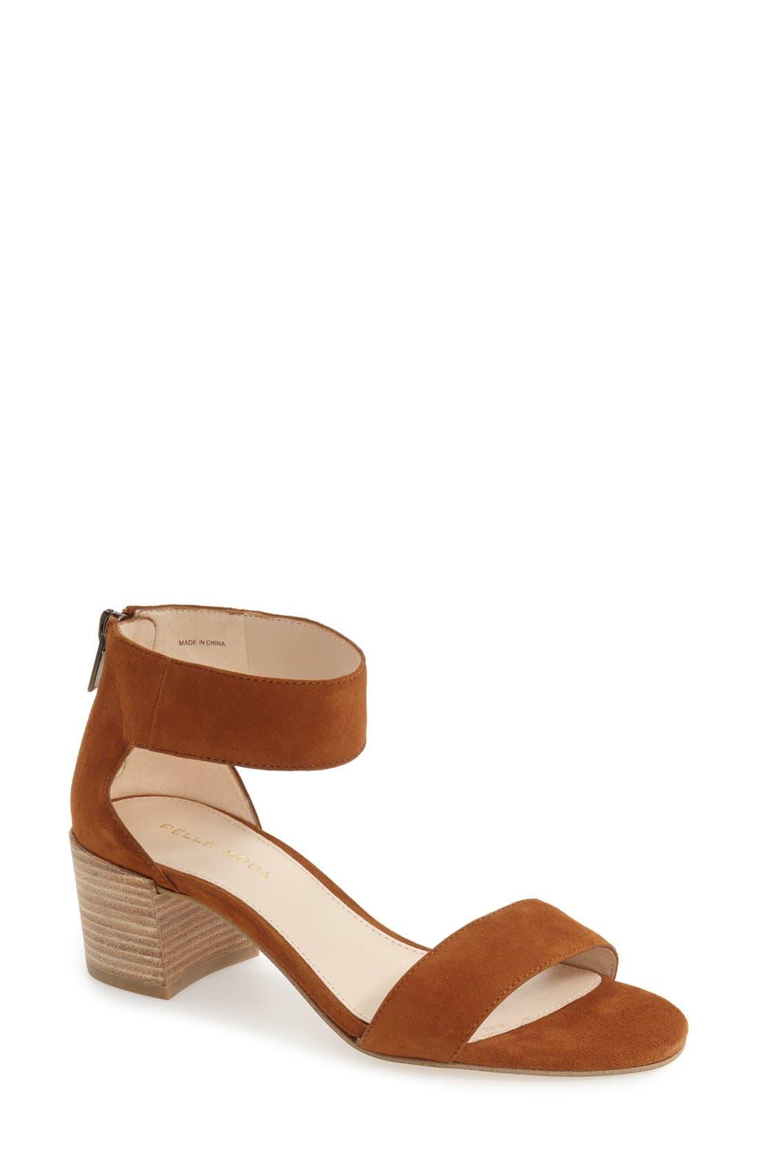 Pella Moda 'Urban' Block Heel Sandal,                             Main thumbnail 2, color,
