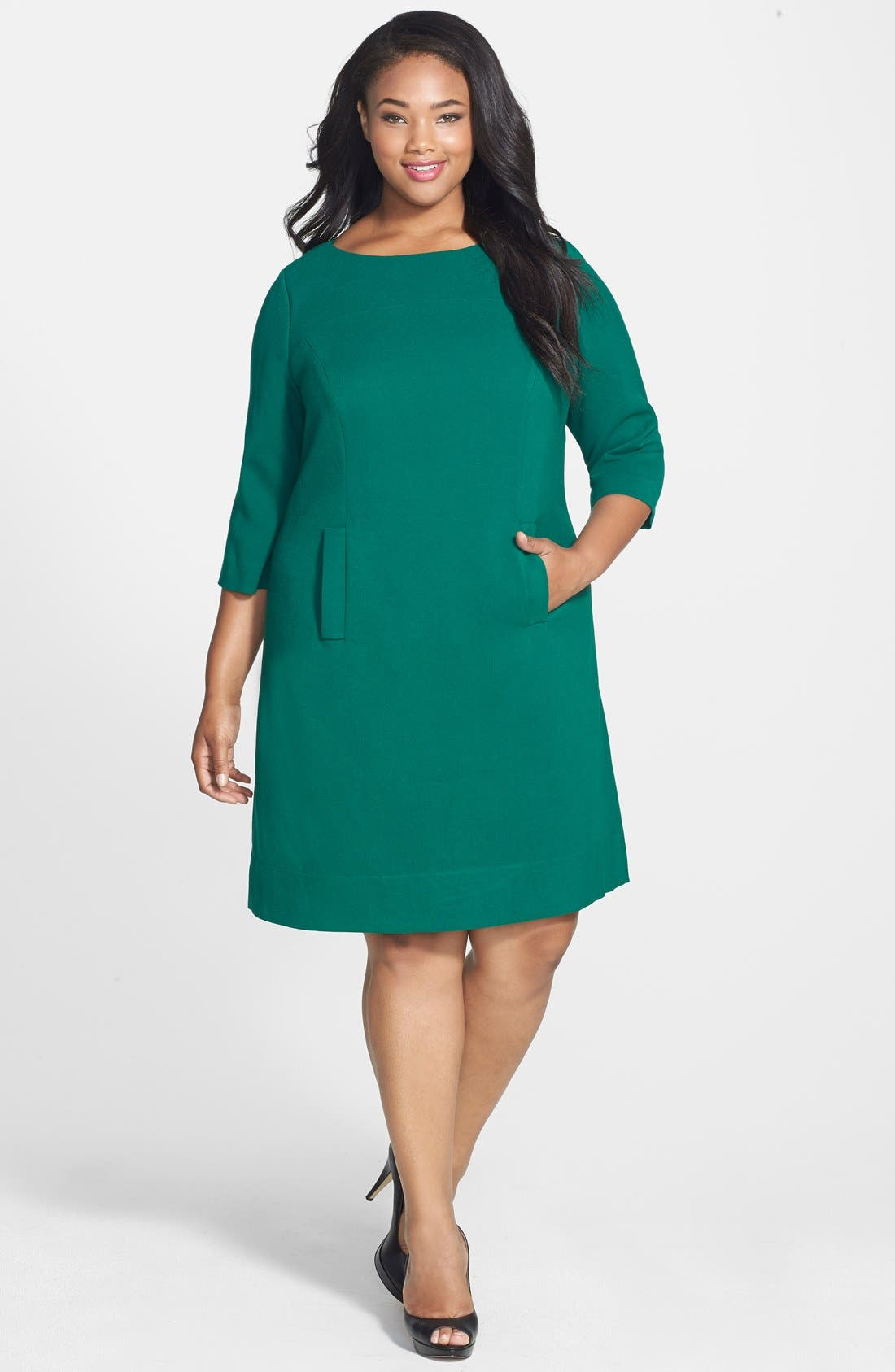 Pocket Detail Shift Dress,                             Alternate thumbnail 25, color,