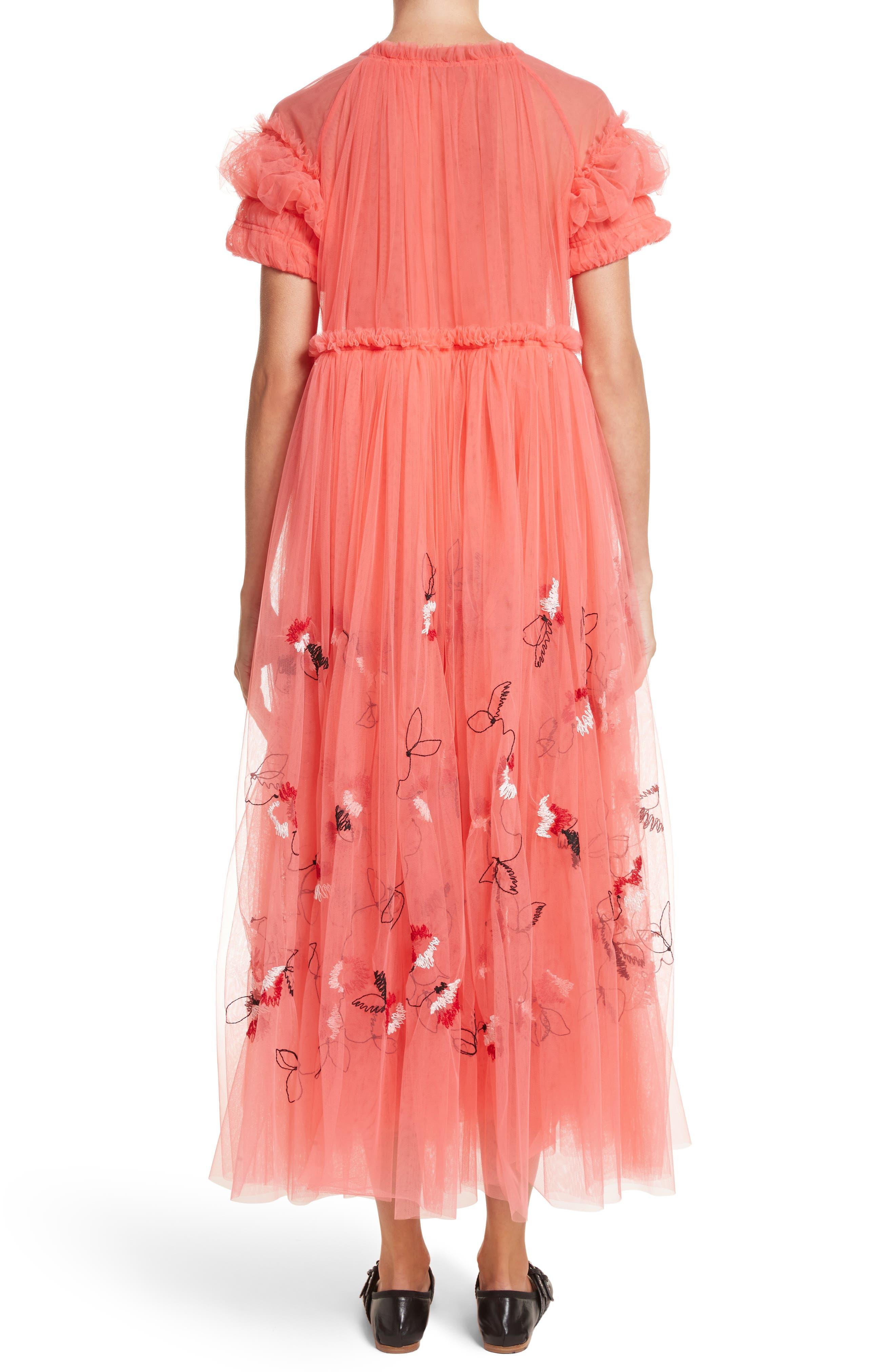 Doris Embroidered Tulle Dress,                             Alternate thumbnail 2, color,                             950