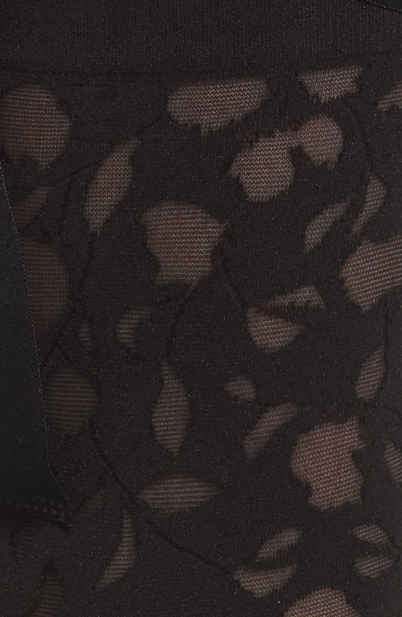 Amelia Ankle Tie Socks,                             Alternate thumbnail 3, color,                             BLACK/ BLACK