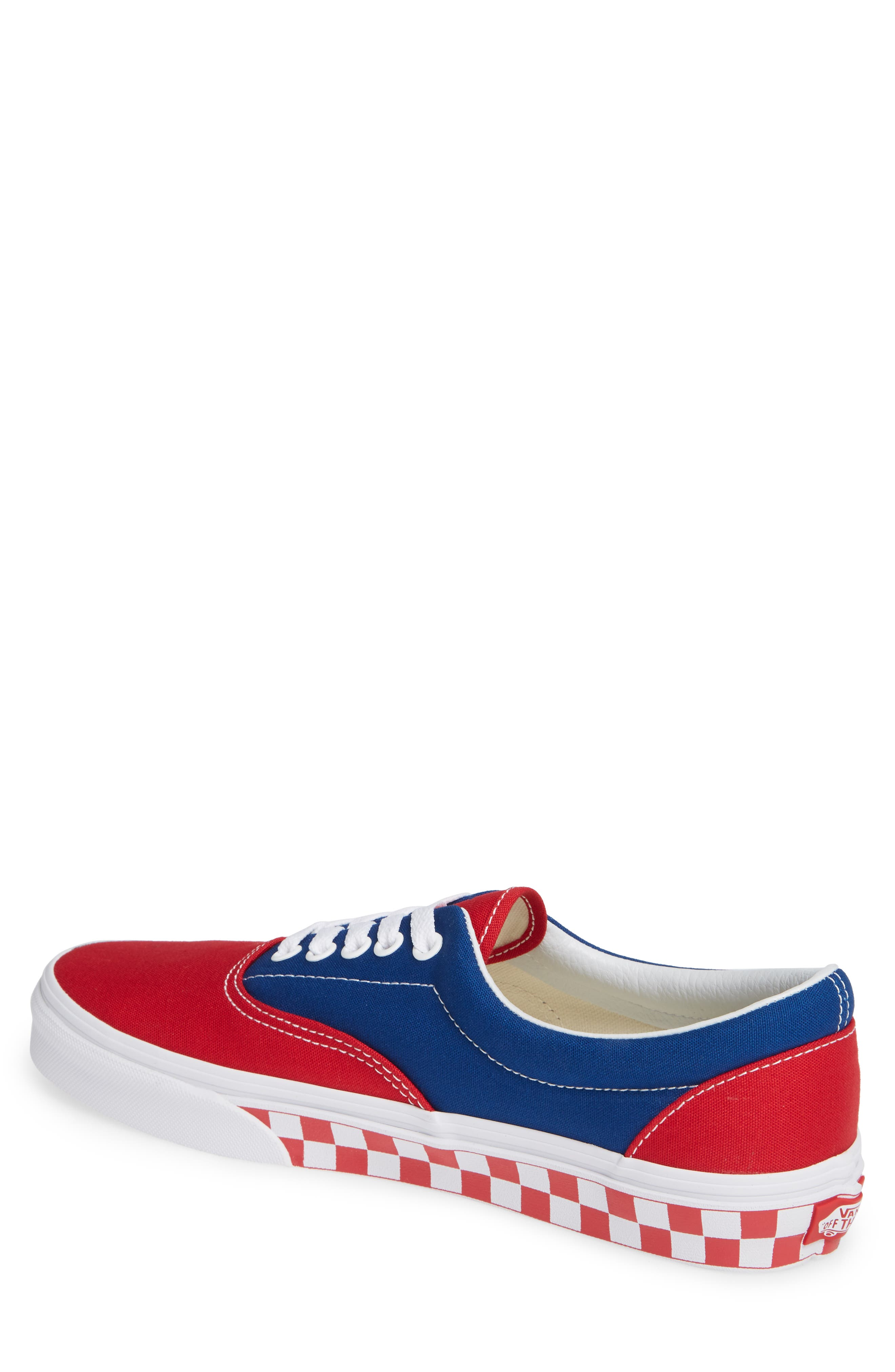 BMX Checkerboard Era Sneaker,                             Alternate thumbnail 2, color,                             BLUE/ RED CHECKER CANVAS