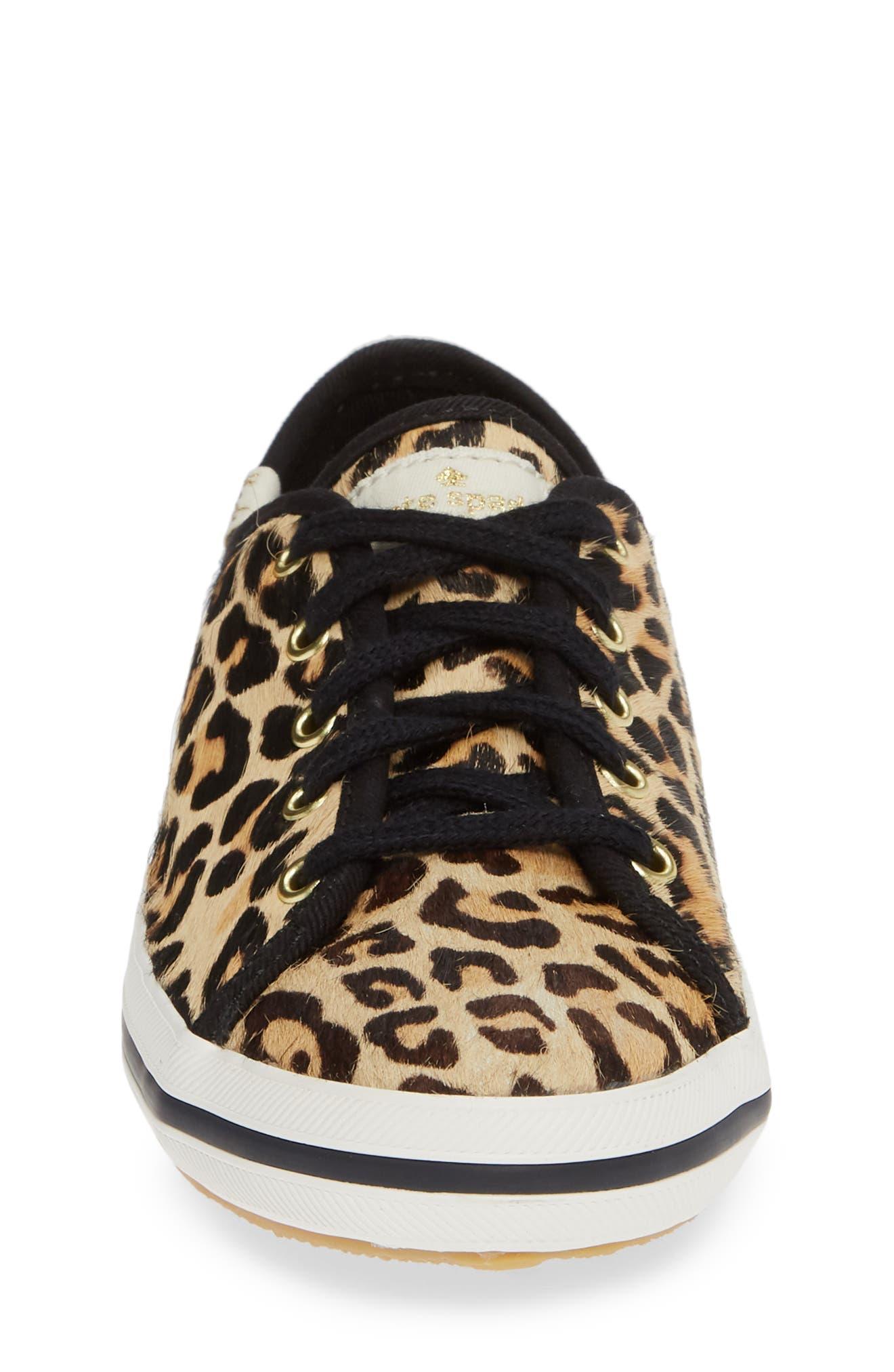 for kate spade new york kickstart genuine calf hair sneaker,                             Alternate thumbnail 4, color,                             PRINTED PONY