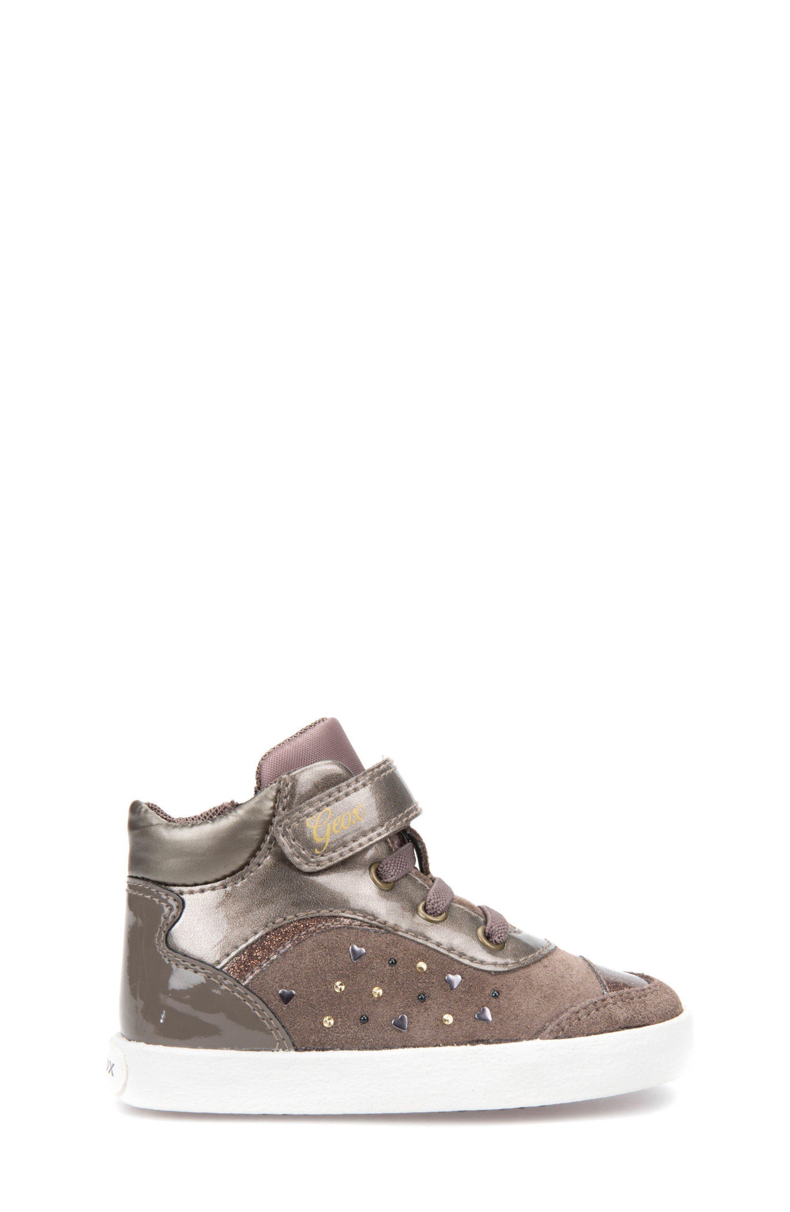 Kiwi Girl Studded High Top Sneaker,                             Alternate thumbnail 9, color,