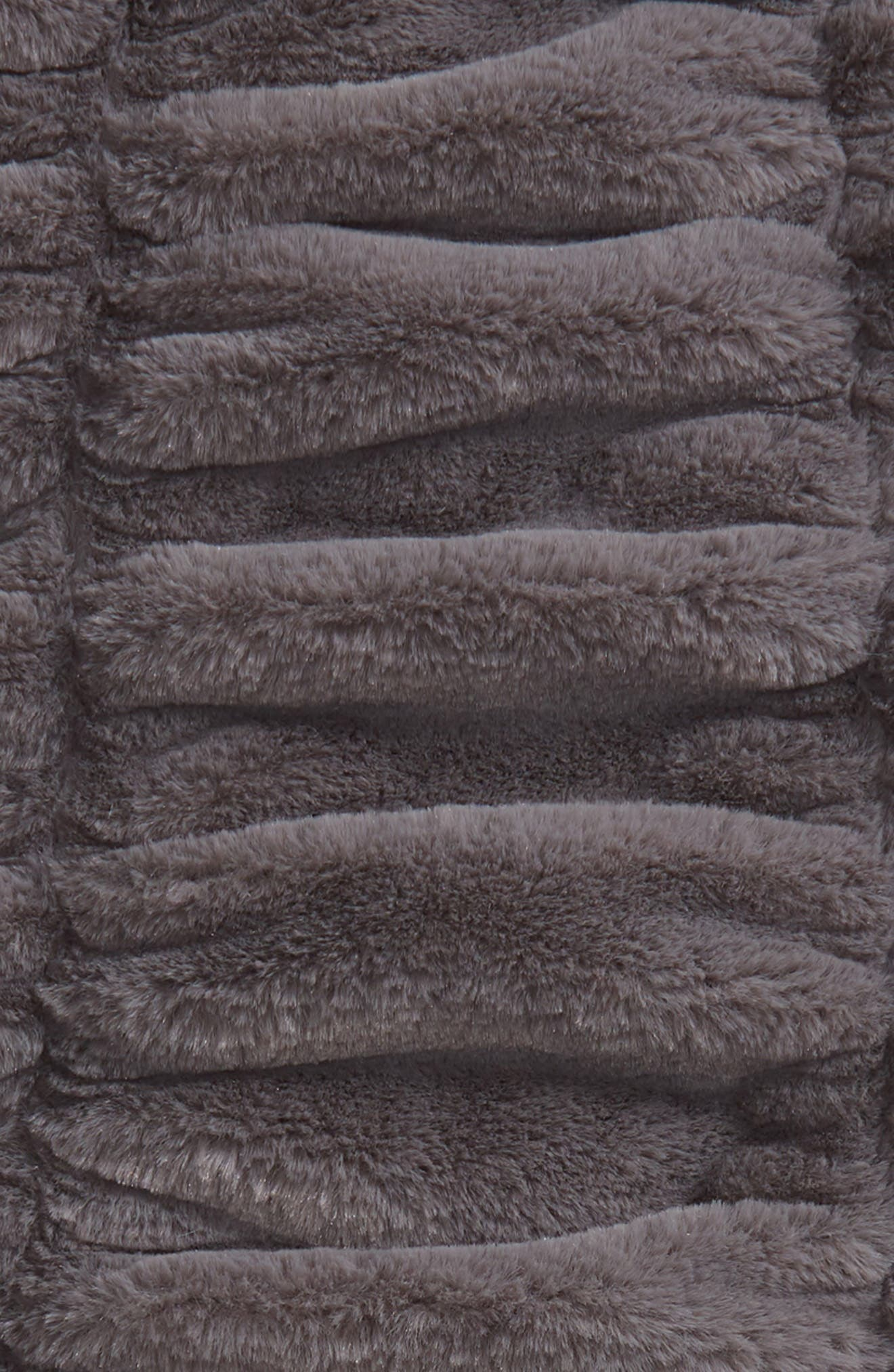 Ruched Faux Fur Throw Blanket,                             Alternate thumbnail 2, color,                             020