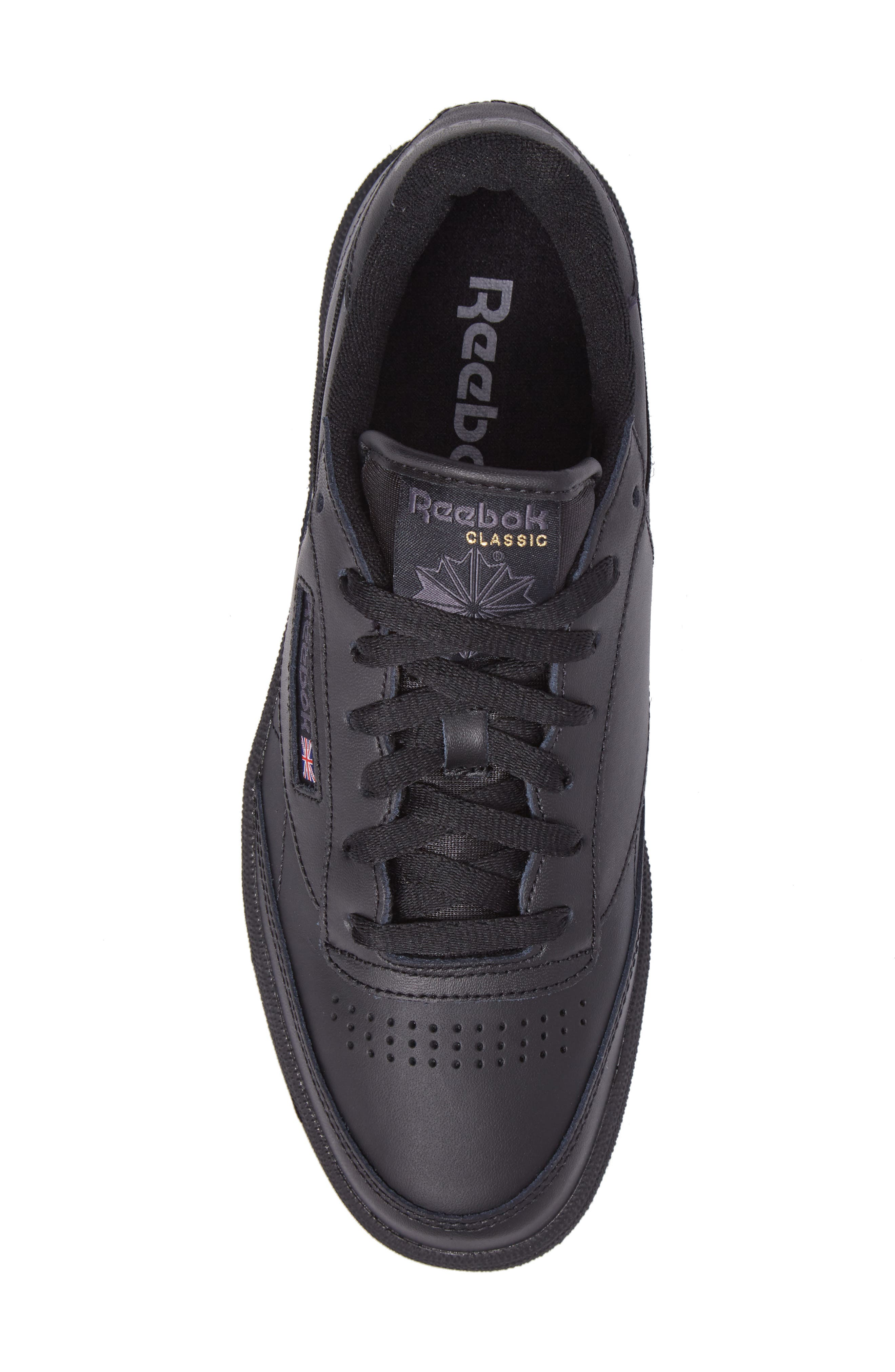 REEBOK,                             Club C 85 Sneaker,                             Alternate thumbnail 5, color,                             001