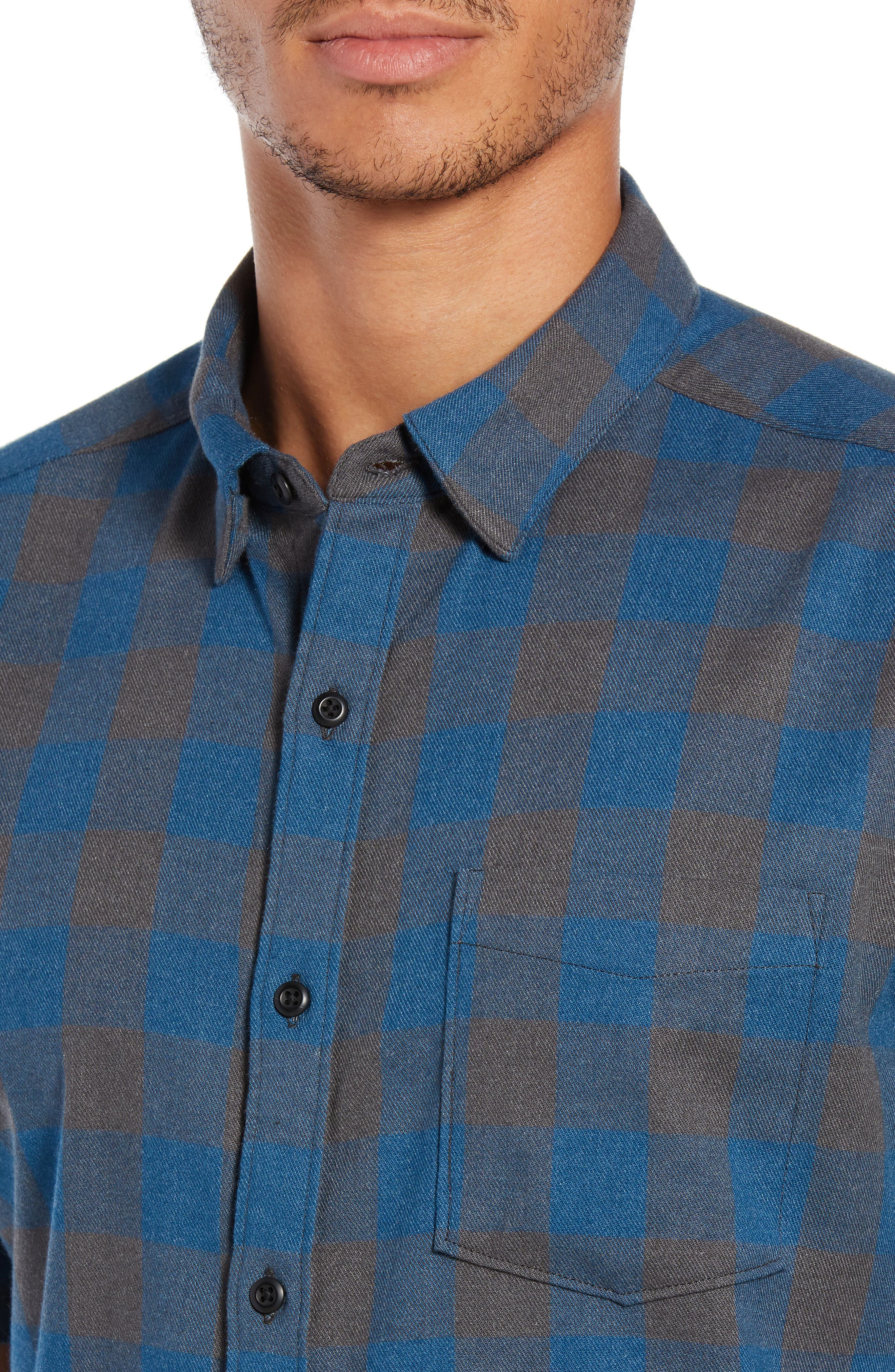Bison Check Twill Woven Shirt,                             Alternate thumbnail 2, color,                             BLUE FORCE HEATHER