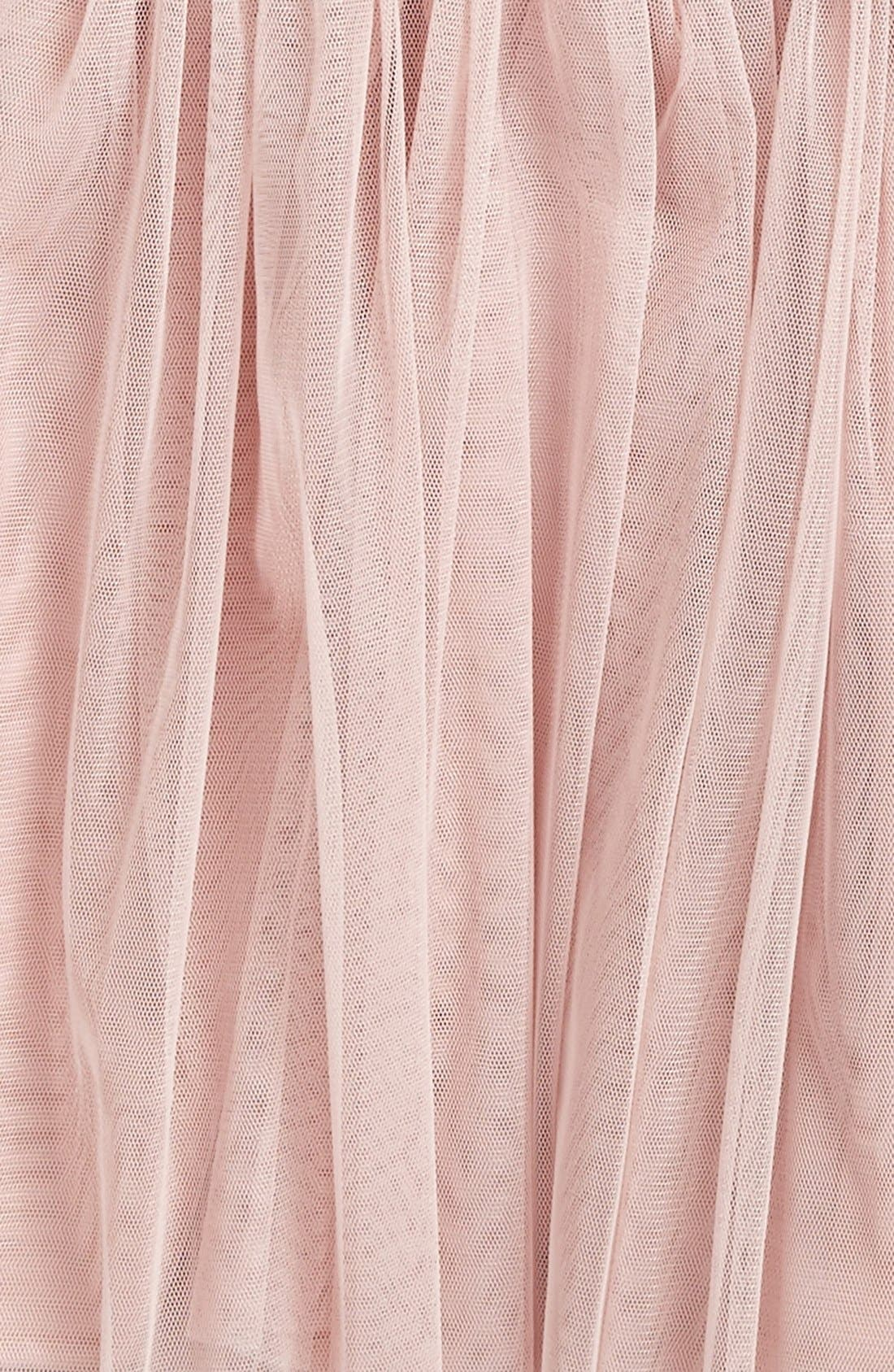Empire Waist Tulle Dress,                             Alternate thumbnail 2, color,                             DUSTY PINK