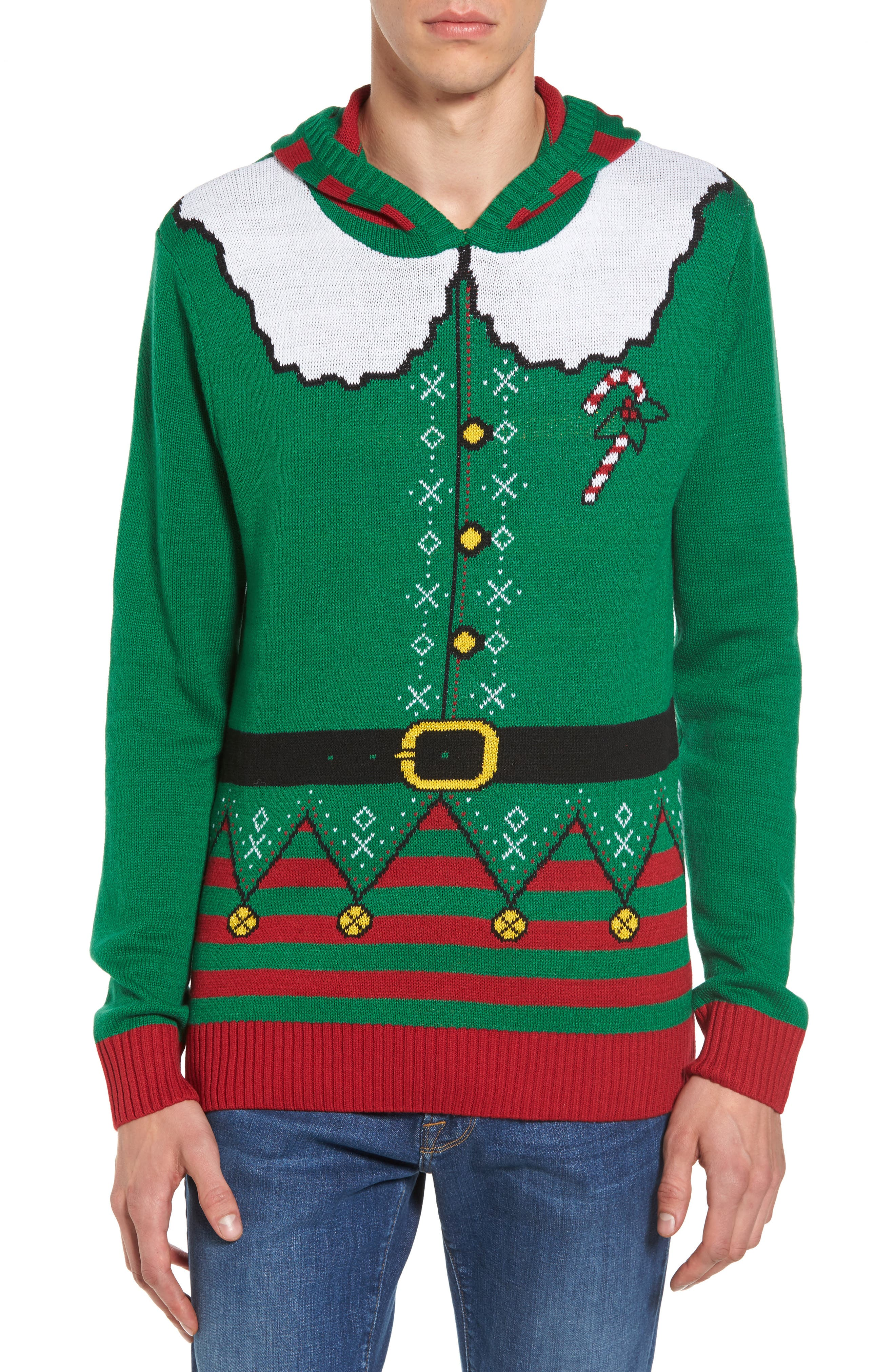 Elf Hooded Sweater,                             Main thumbnail 1, color,                             310