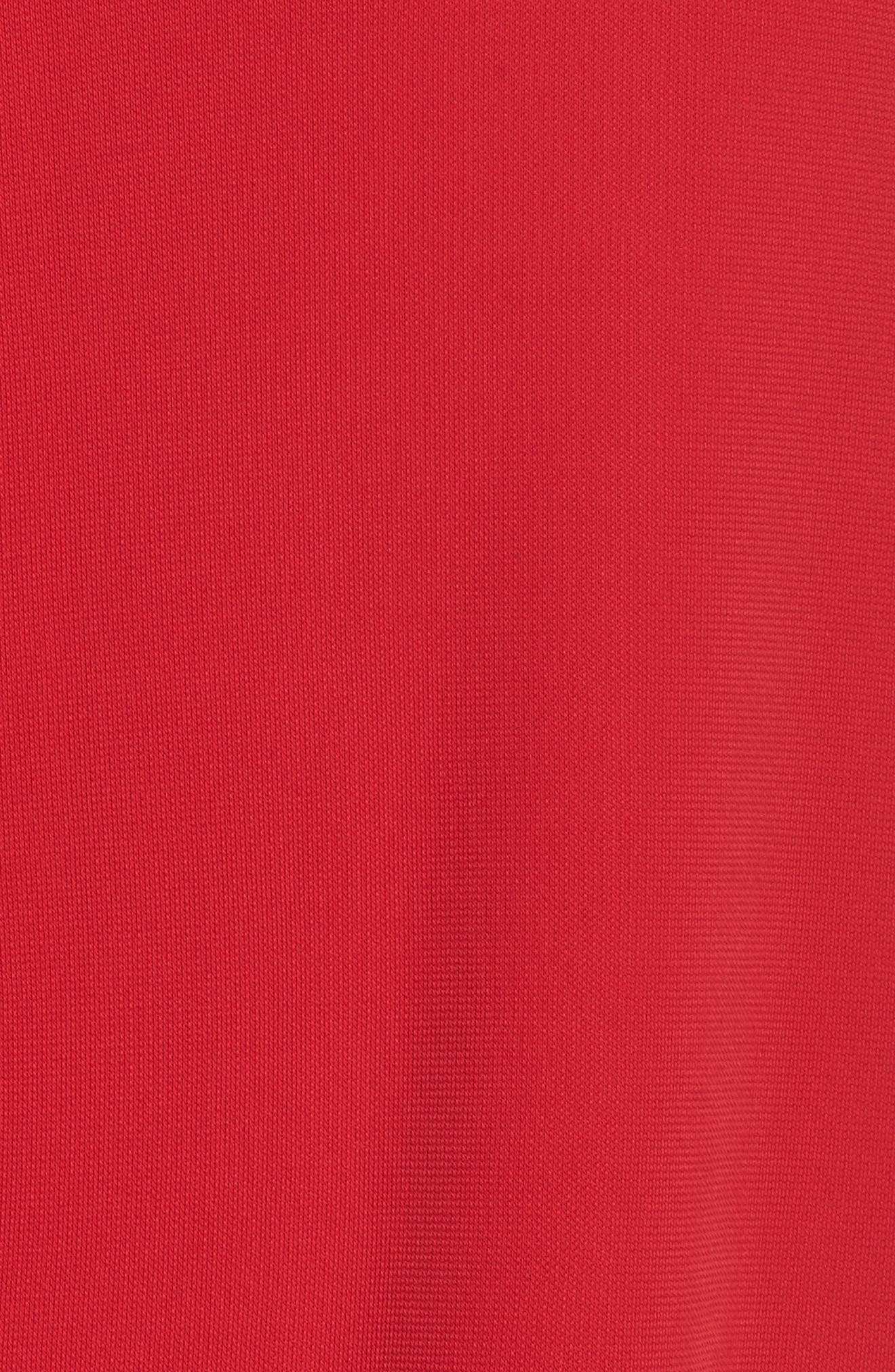 Donna Backless Jersey Dress,                             Alternate thumbnail 5, color,                             RED
