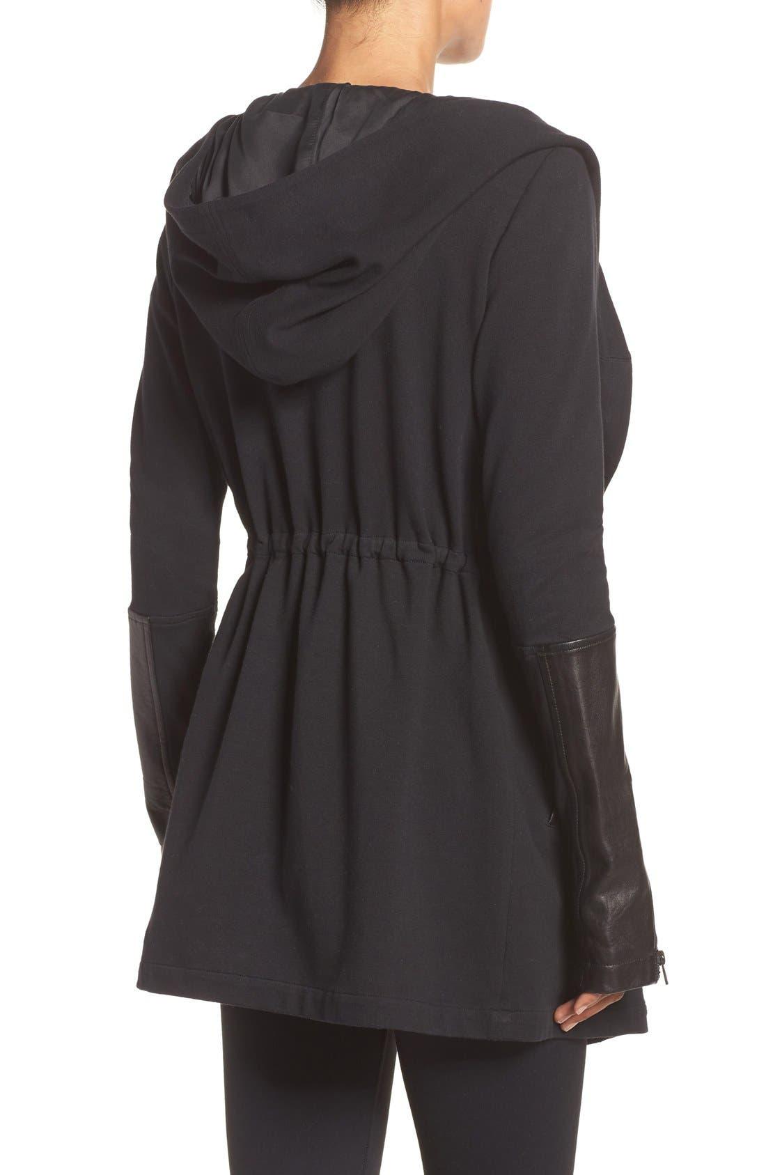 Traveler Wrap Jacket,                             Alternate thumbnail 10, color,                             BLACK/ BLACK