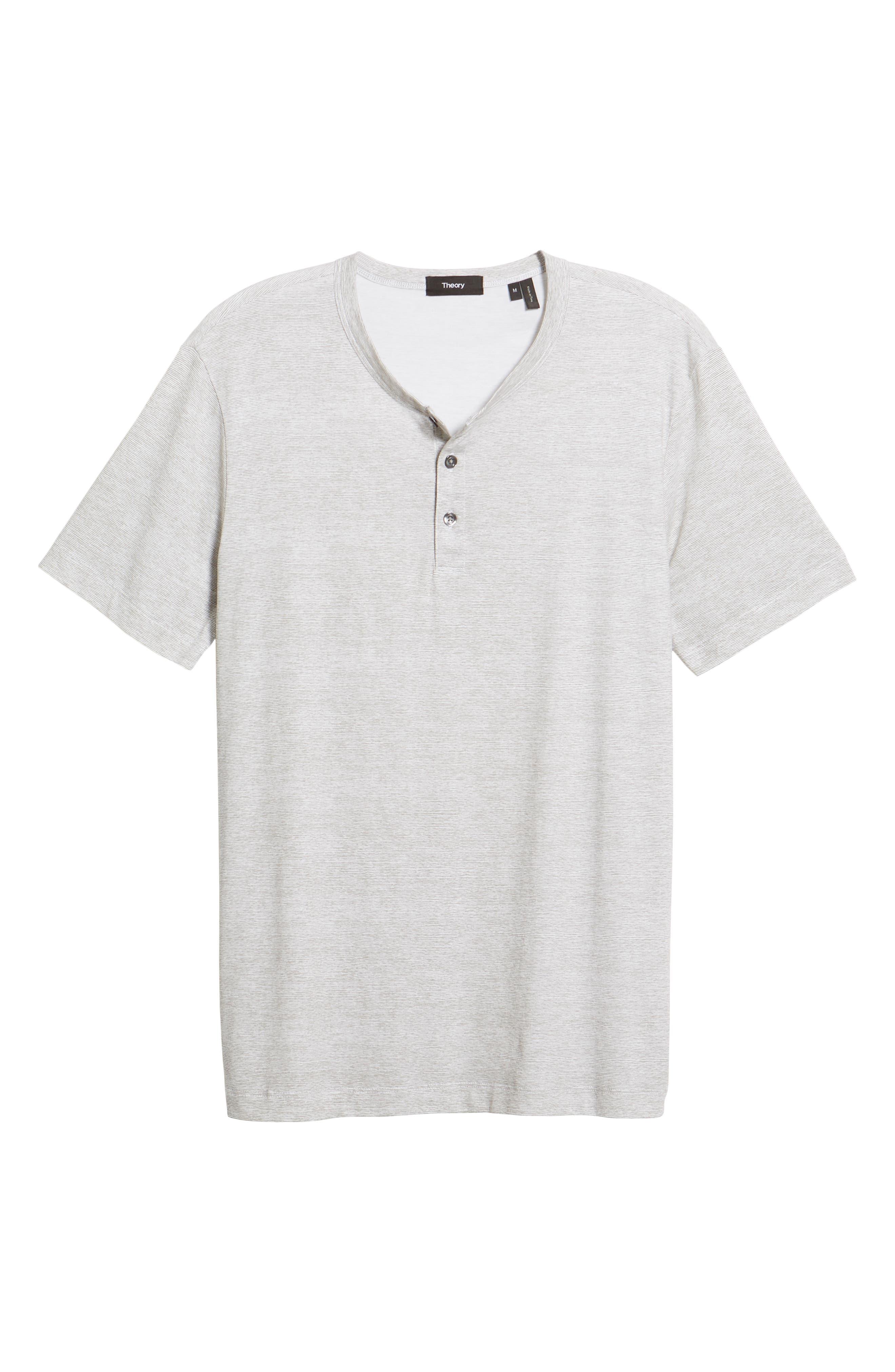 Essential Regular Fit Short Short Sleeve Henley,                             Alternate thumbnail 6, color,                             021