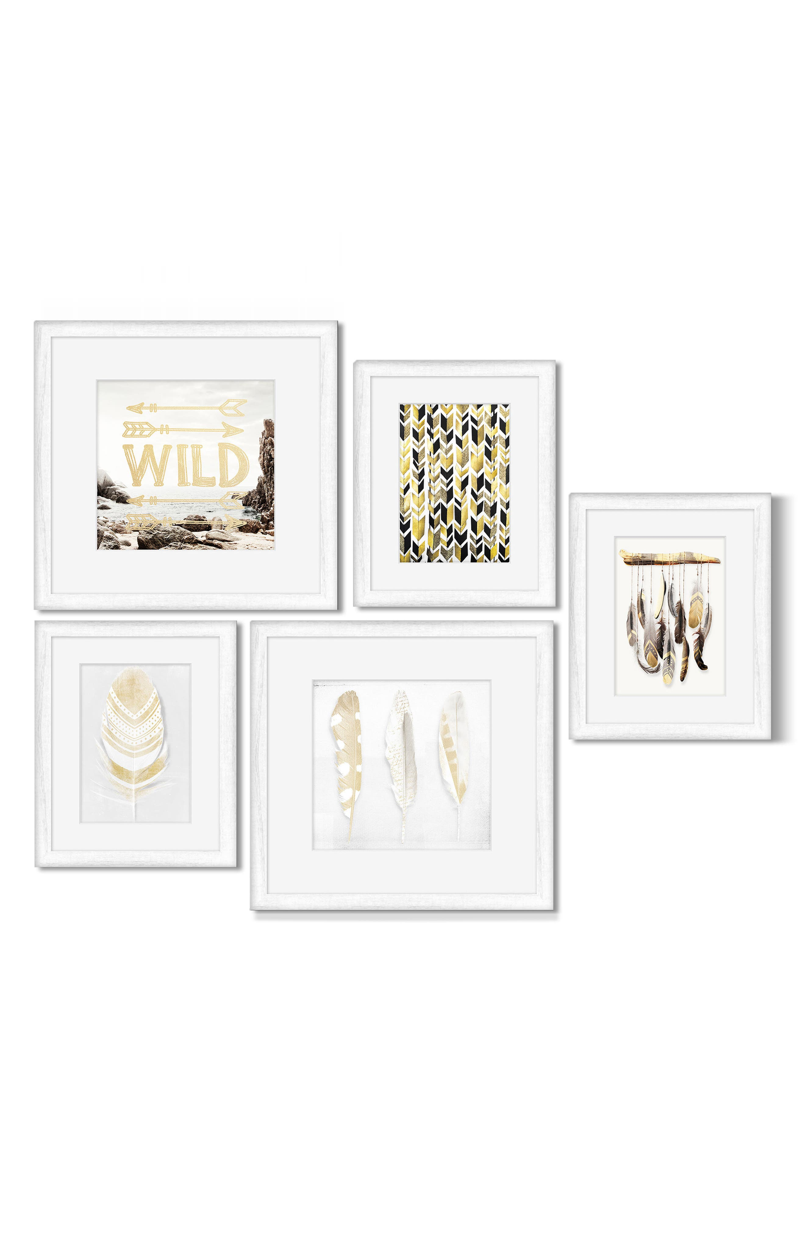5-Piece Framed Wall Art Gallery,                         Main,                         color, 100