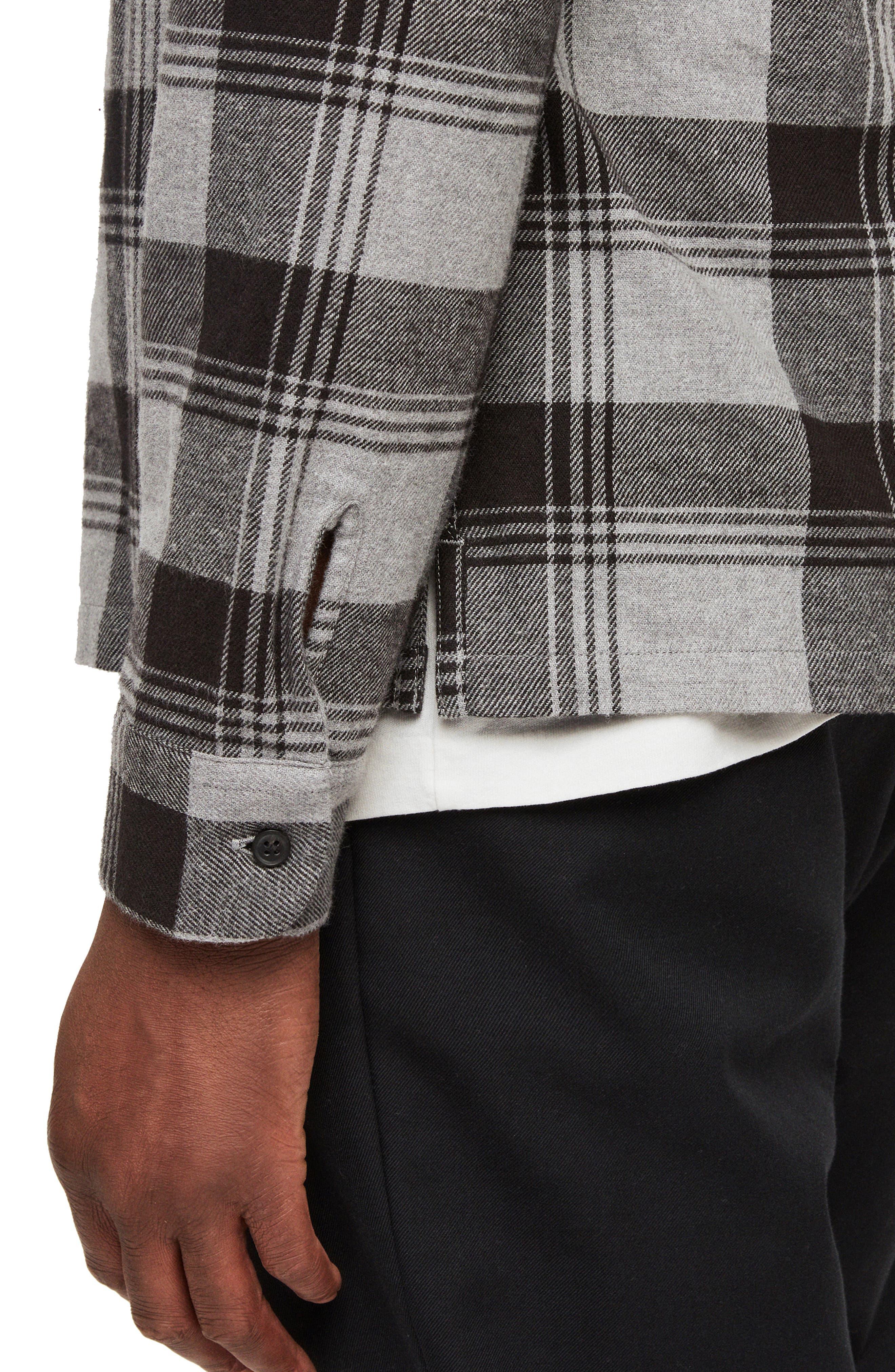 Danby Flannel Shirt Jacket,                             Alternate thumbnail 2, color,                             BLACK/ ECRU WHITE