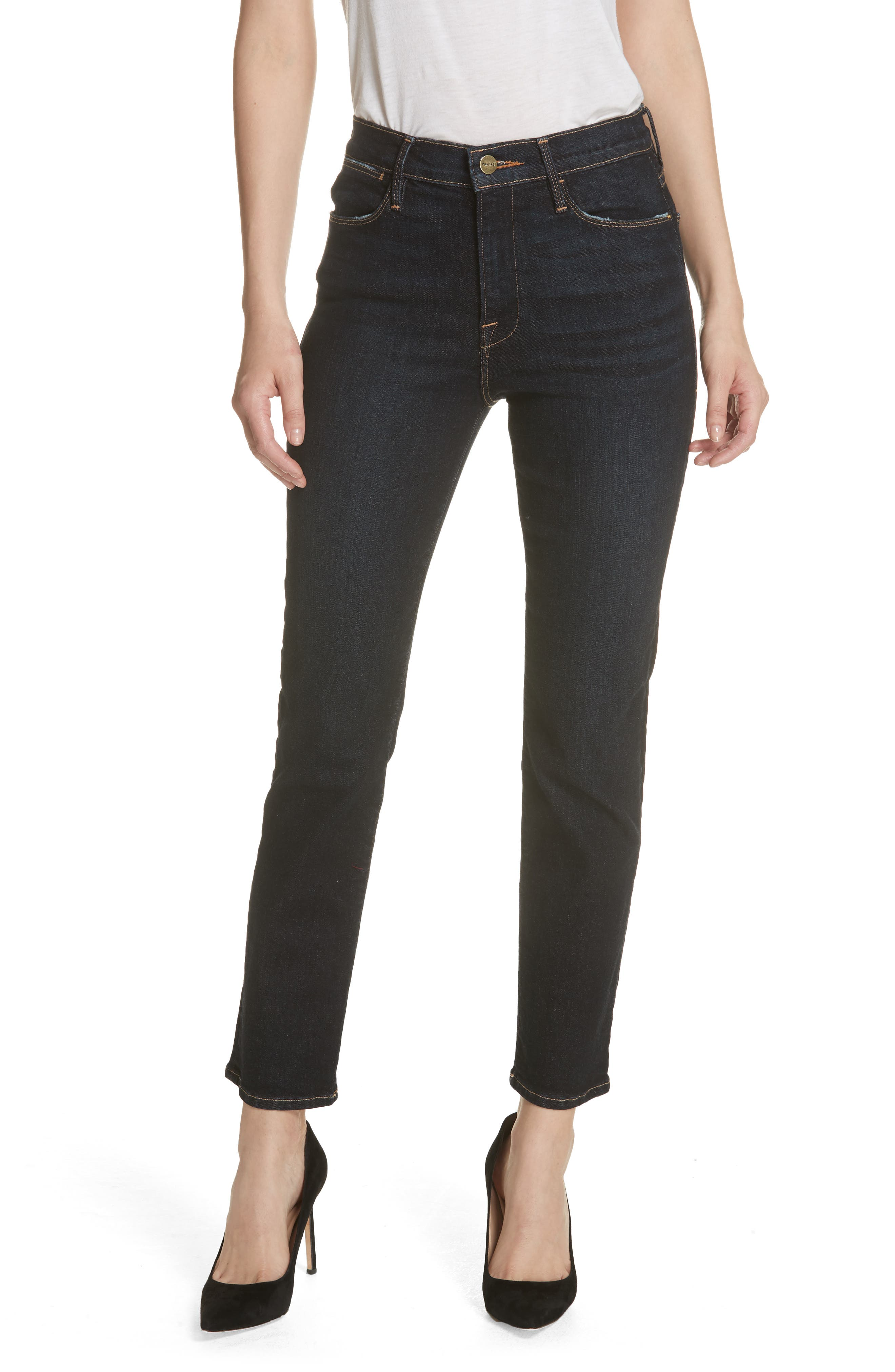 Le High Straight High Waist Crop Jeans,                         Main,                         color,