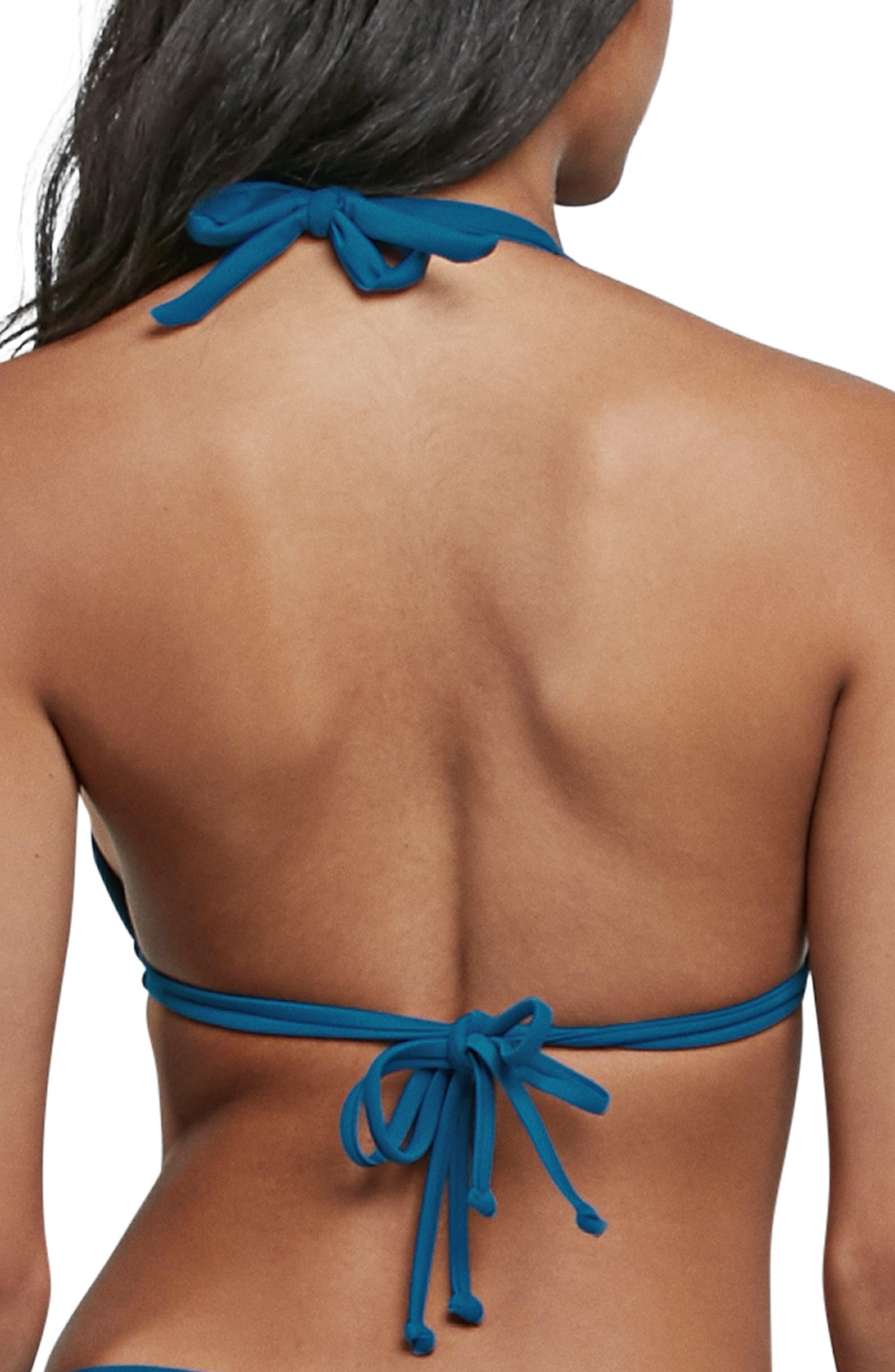 Simply Solid Halter Bikini Top,                             Alternate thumbnail 4, color,