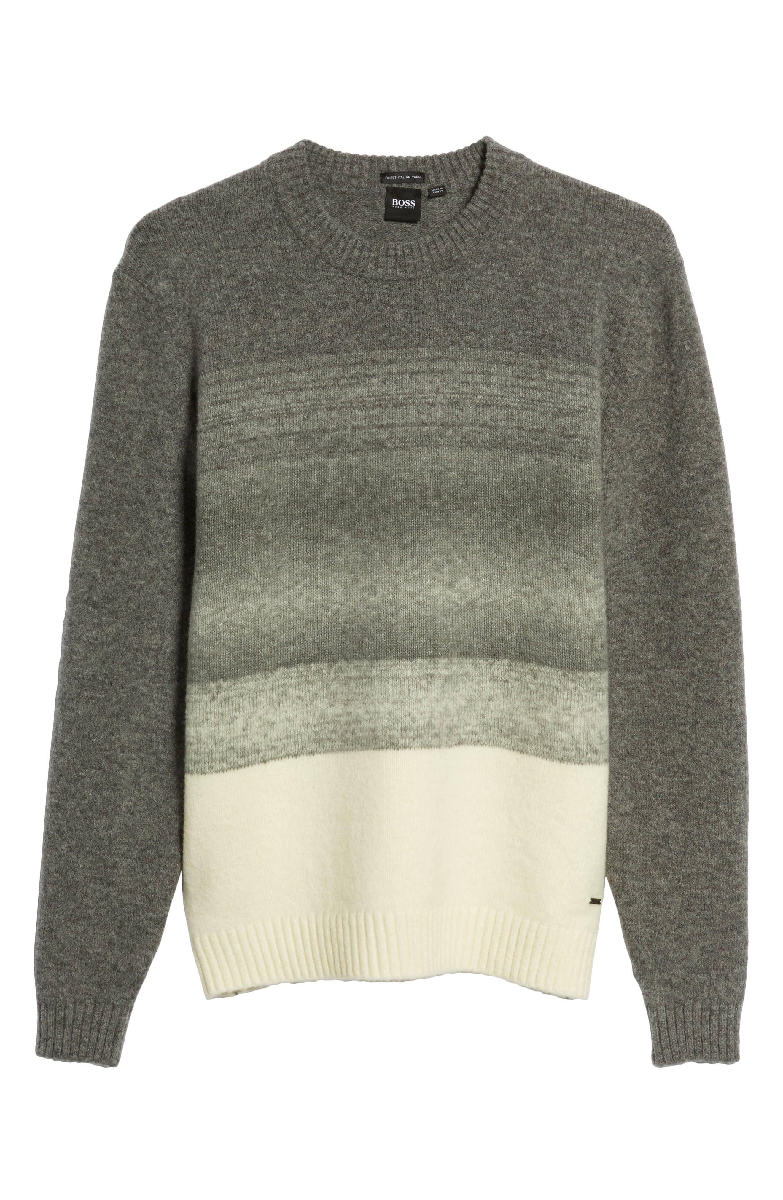 Ecardo Dégradé Virgin Wool Blend Sweater,                             Alternate thumbnail 6, color,                             GREY