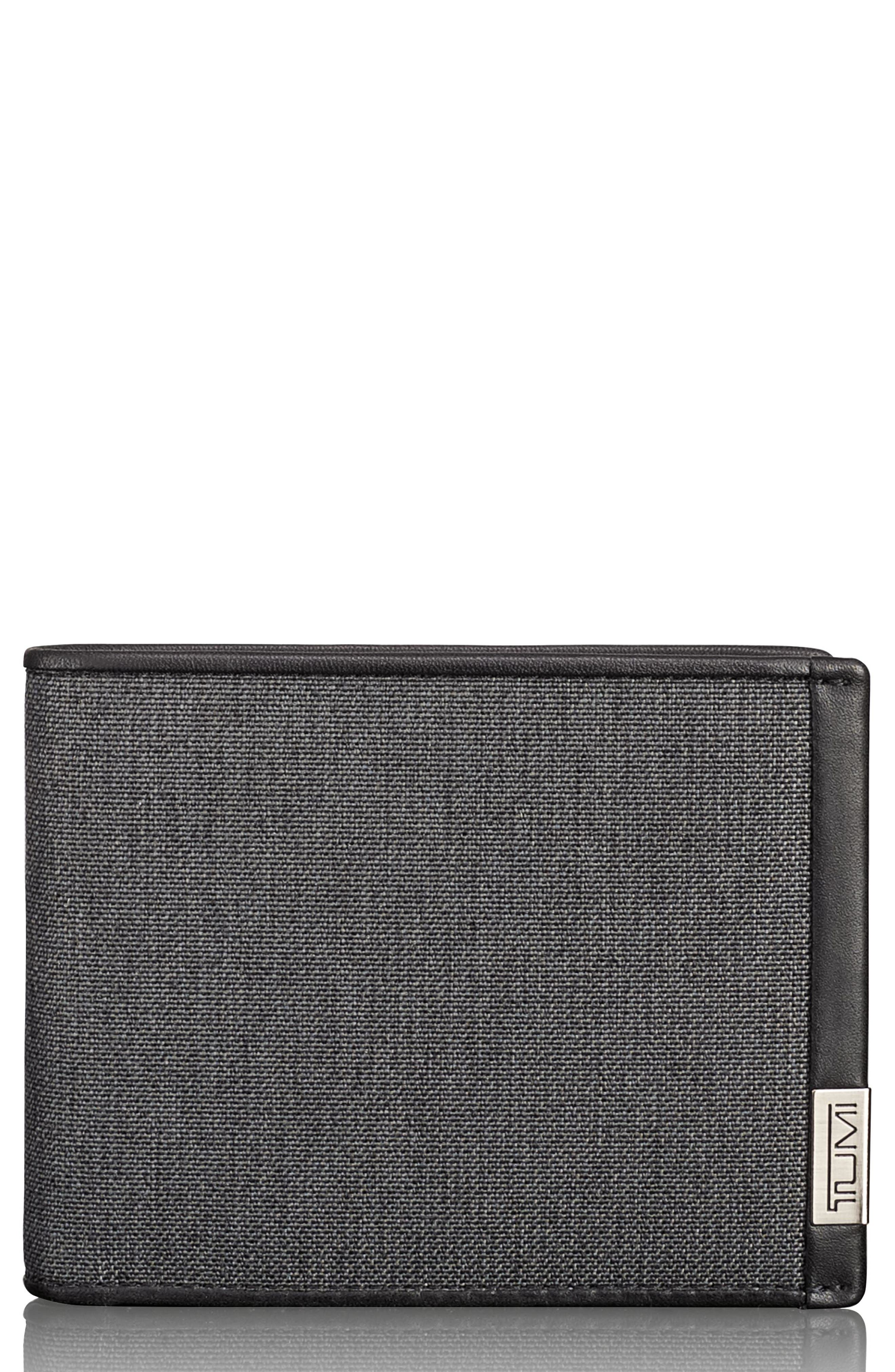 Alpha Global Wallet,                             Main thumbnail 1, color,                             ANTHRACITE/ BLACK