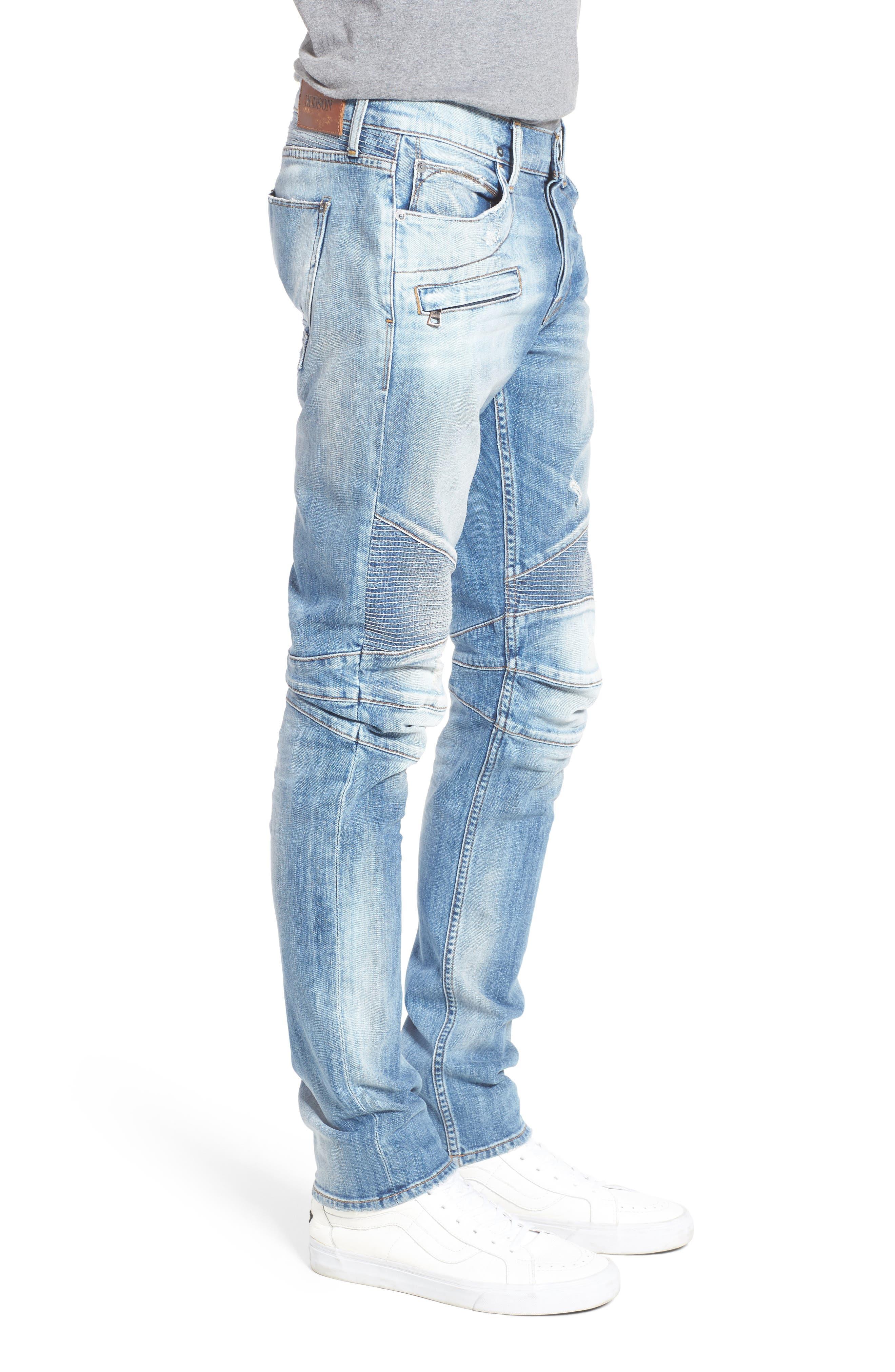 Blinder Skinny Fit Moto Jeans,                             Alternate thumbnail 3, color,                             THRASH