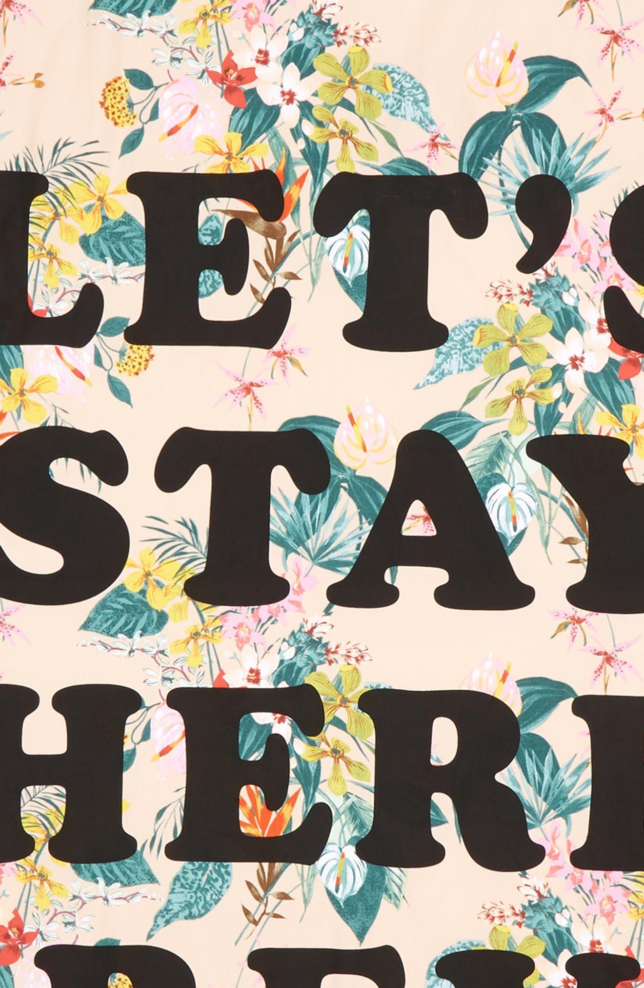 Let's Stay Here Forever Beach Sheet,                             Alternate thumbnail 2, color,