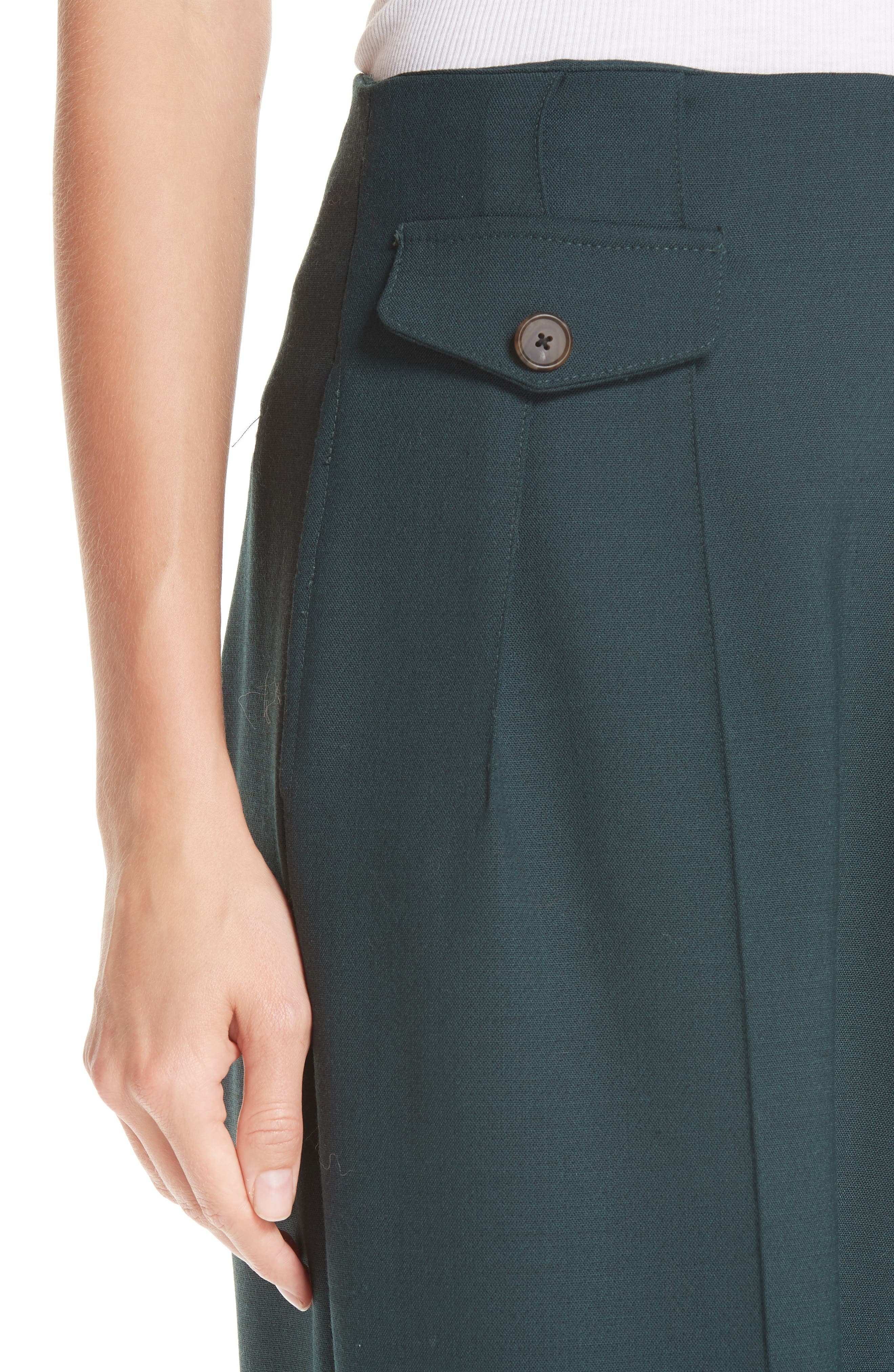 Seamed Wide Leg Trousers,                             Alternate thumbnail 4, color,                             300