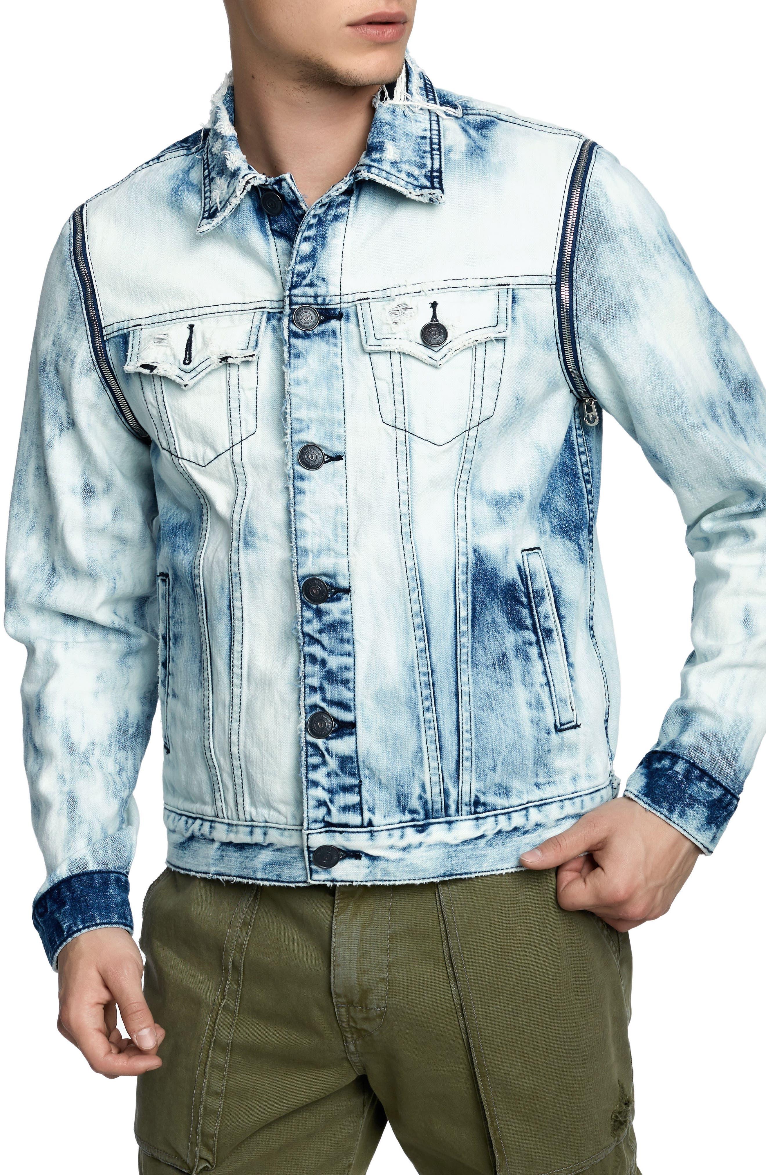 Danny Denim Jacket,                         Main,                         color, LIGHT RAIL