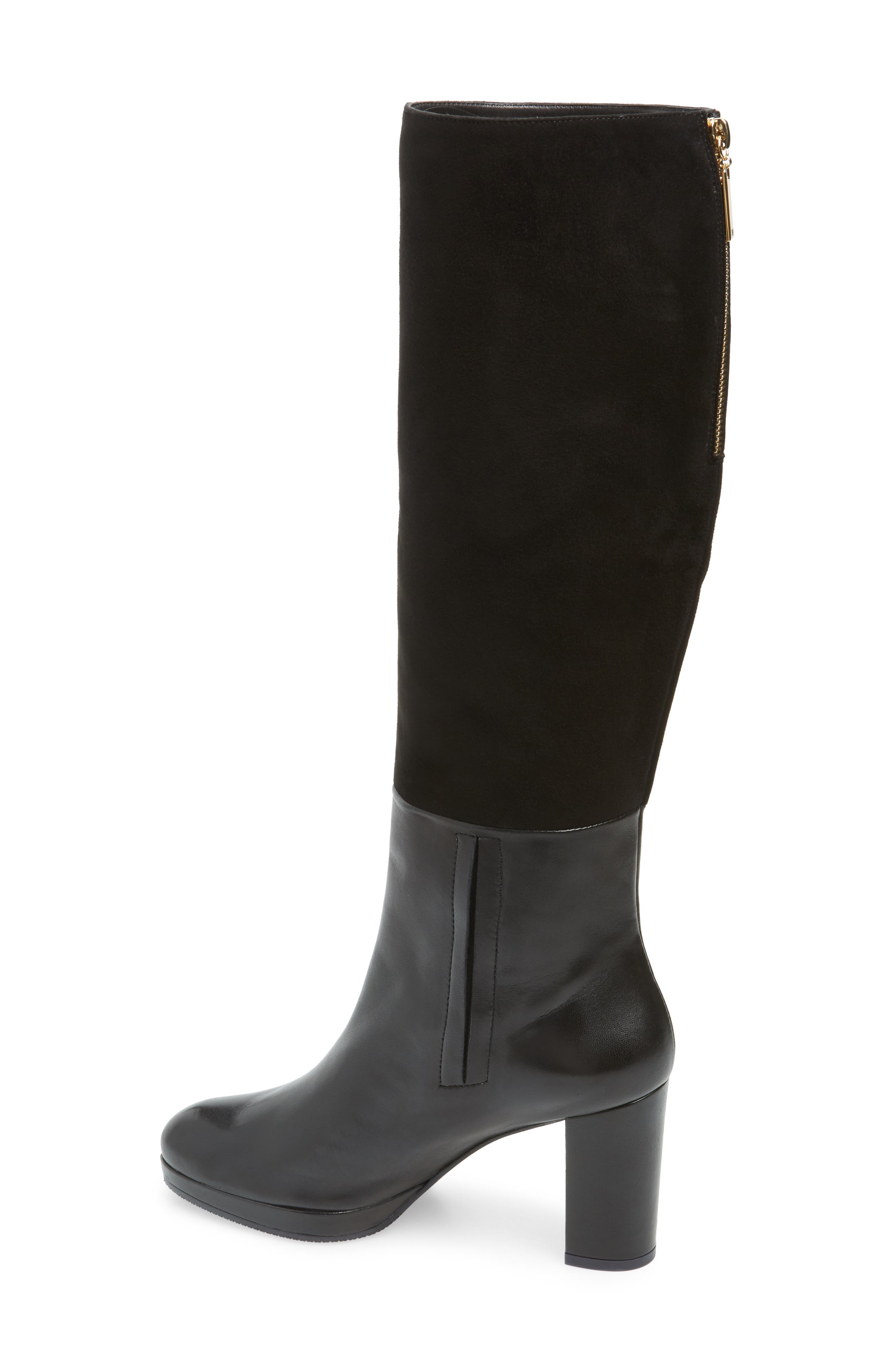 Marcella Knee High Boot,                             Alternate thumbnail 2, color,                             BLACK DOVER