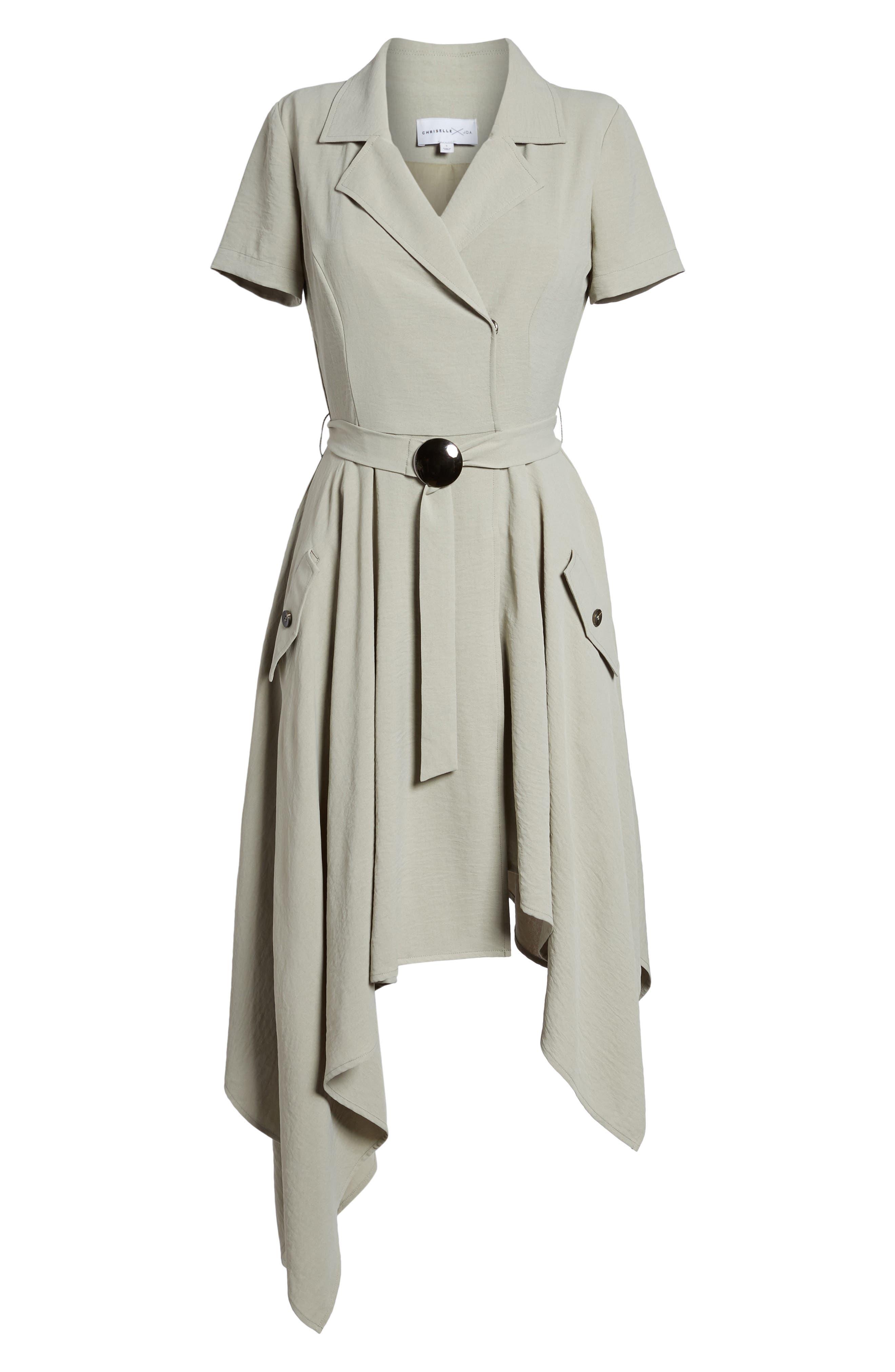 Chriselle x J.O.A. Asymmetrical Trench Dress,                             Alternate thumbnail 7, color,                             300