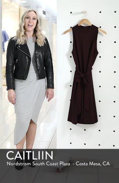 High Neck Scuba Crepe A-Line Dress, sales video thumbnail