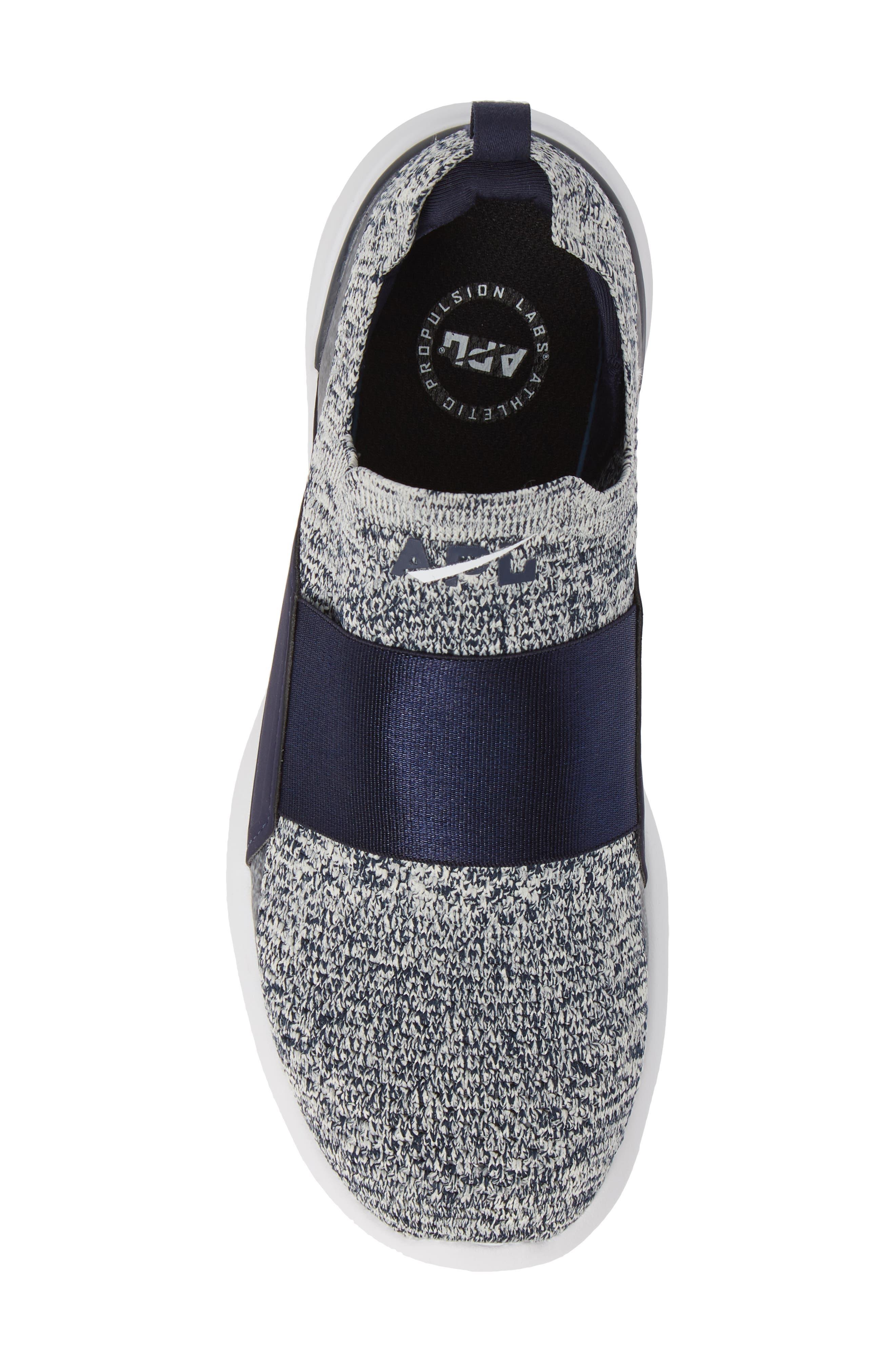 APL,                             Techloom Bliss Knit Running Shoe,                             Alternate thumbnail 5, color,                             NAVY/ PRISTINE/ WHITE