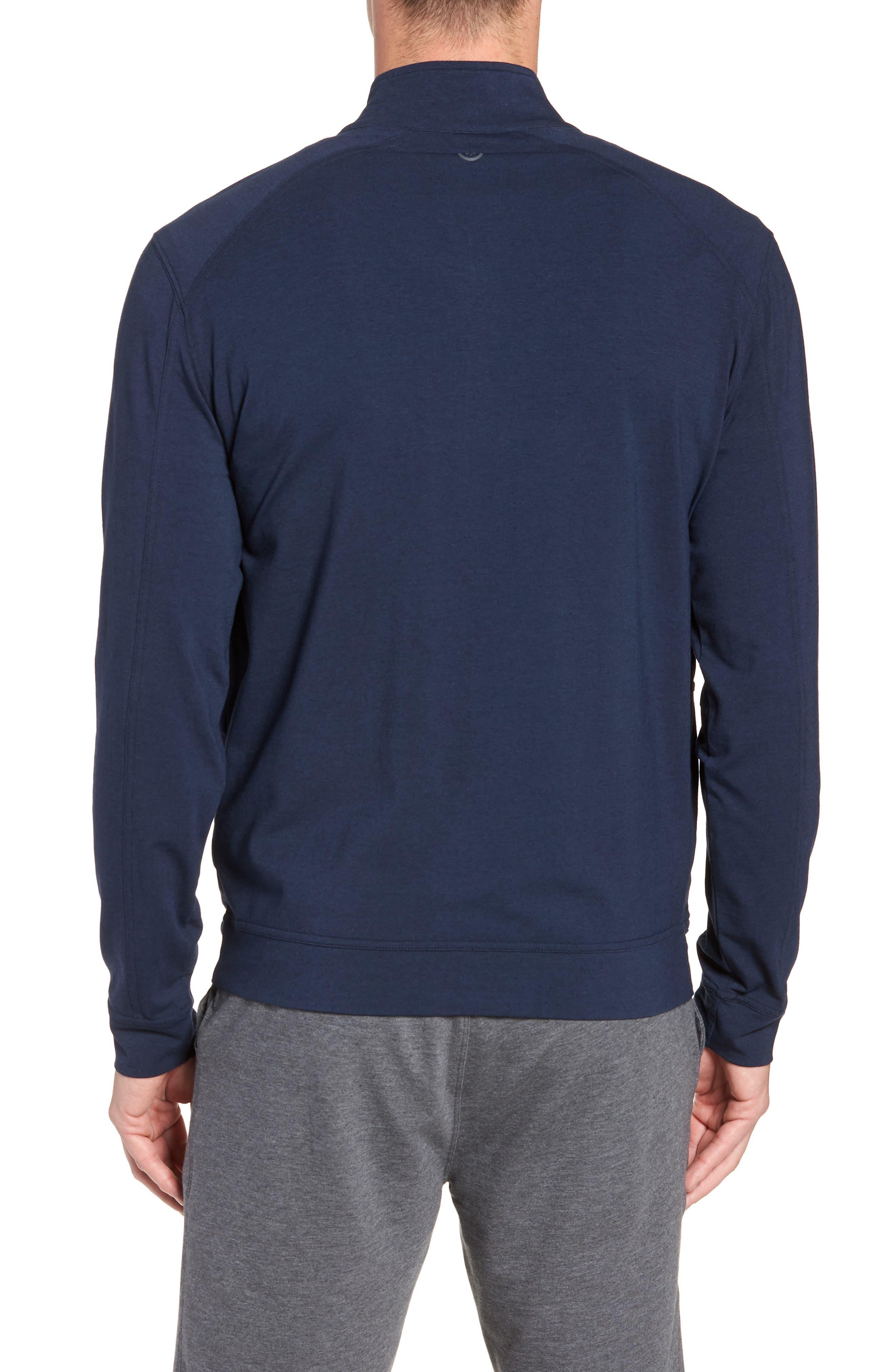 TASC PERFORMANCE,                             Carrollton Zip Jacket,                             Alternate thumbnail 2, color,                             CLASSIC NAVY