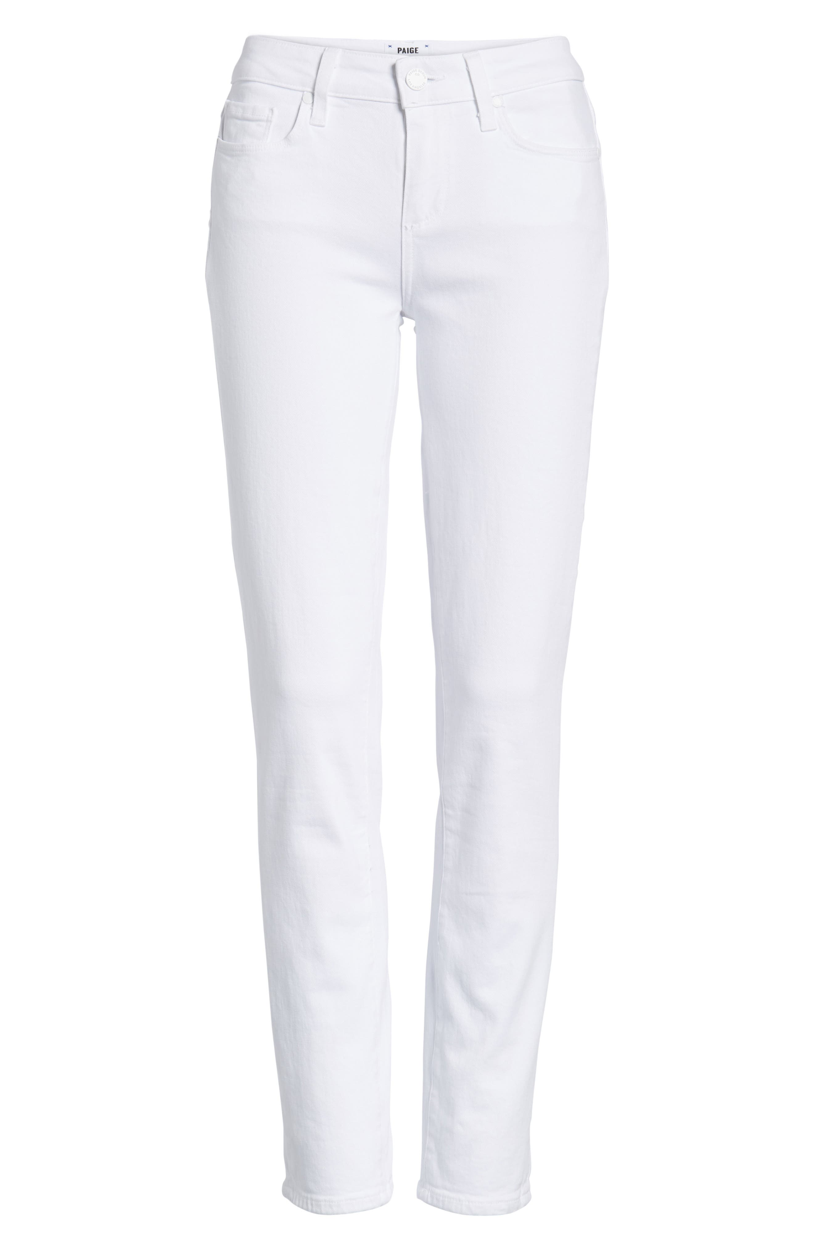 Skyline Ankle Peg Skinny Jeans,                             Alternate thumbnail 7, color,                             CRISP WHITE