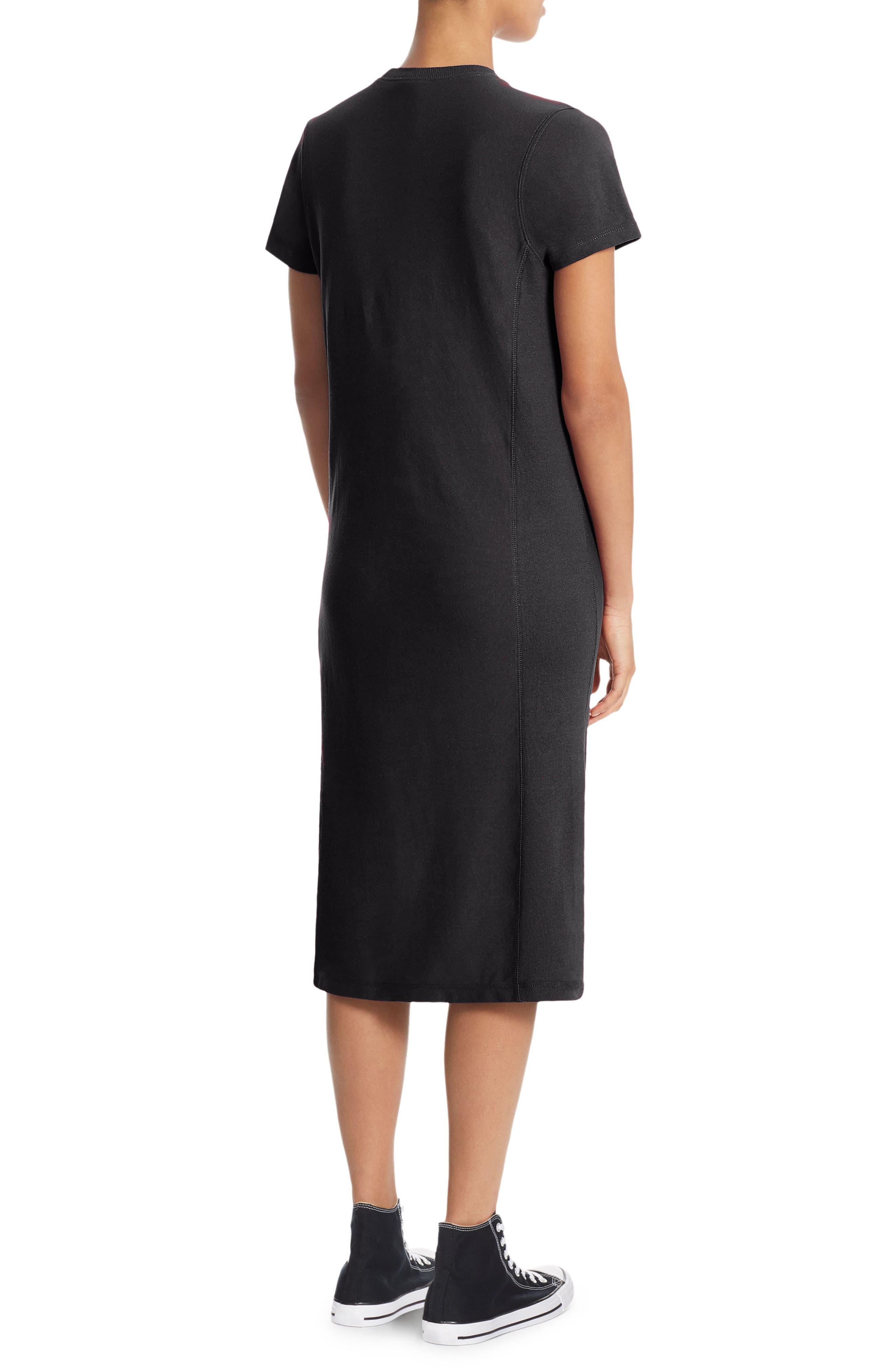 Heavyweight Jersey T-Shirt Dress,                             Alternate thumbnail 2, color,                             001