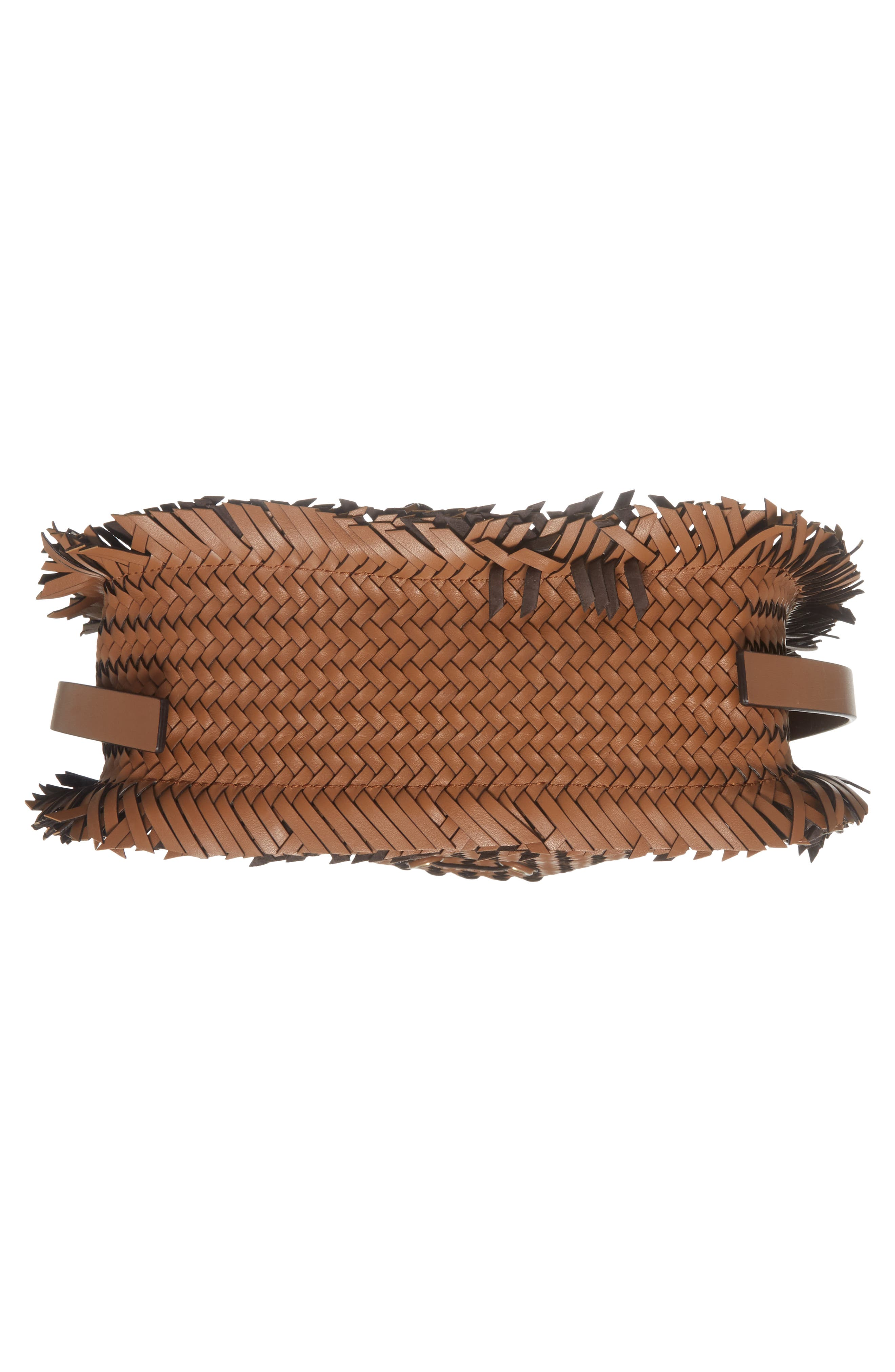 Maldives Woven Frayed Leather Crossbody Bag,                             Alternate thumbnail 6, color,                             231