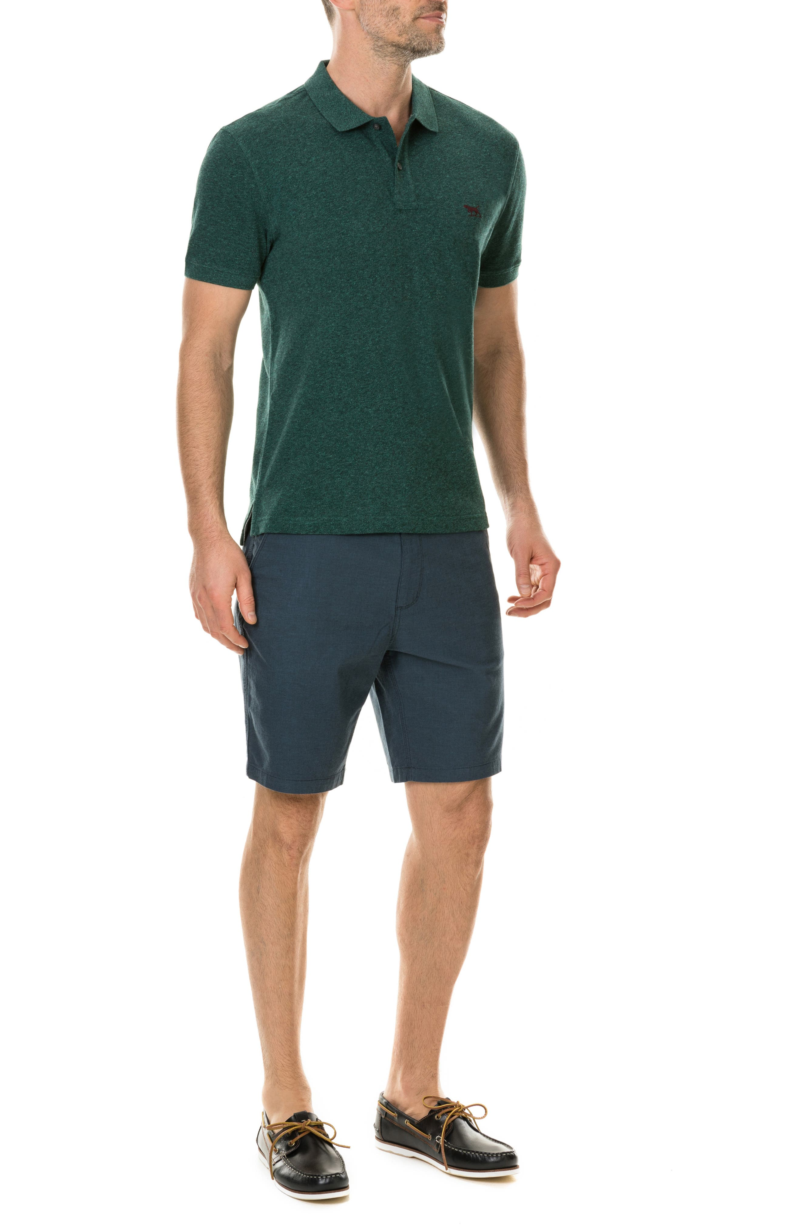 'The Gunn' Piqué Sports Fit Cotton Polo,                             Alternate thumbnail 5, color,                             PINE