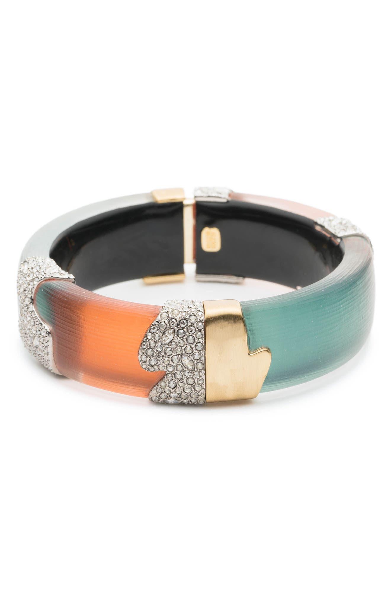 Crystal Encrusted Colorblock Bracelet,                             Alternate thumbnail 3, color,                             440