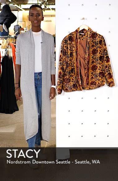 Charles Floral Cotton Velvet Jacket, sales video thumbnail
