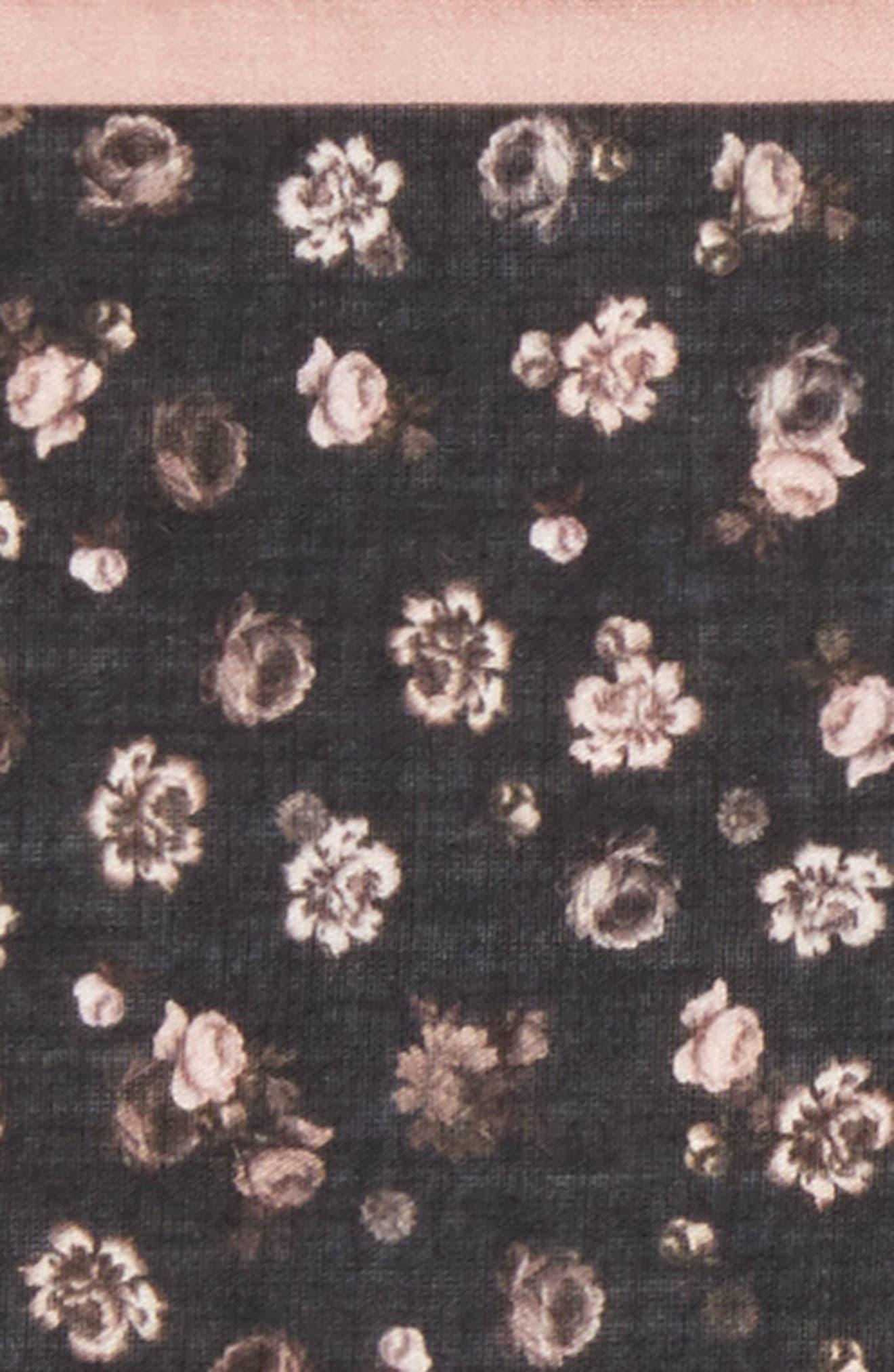 Floral Cotton Pocket Square,                             Alternate thumbnail 3, color,                             001