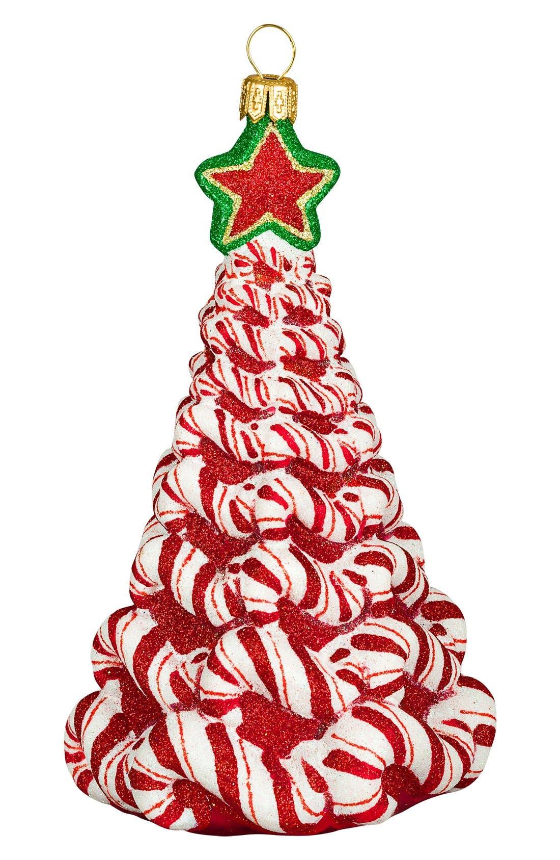 Joy to theWorld Collectibles 'GlitterazziChristmas Tree' Ornament,                         Main,                         color, RED MULTI