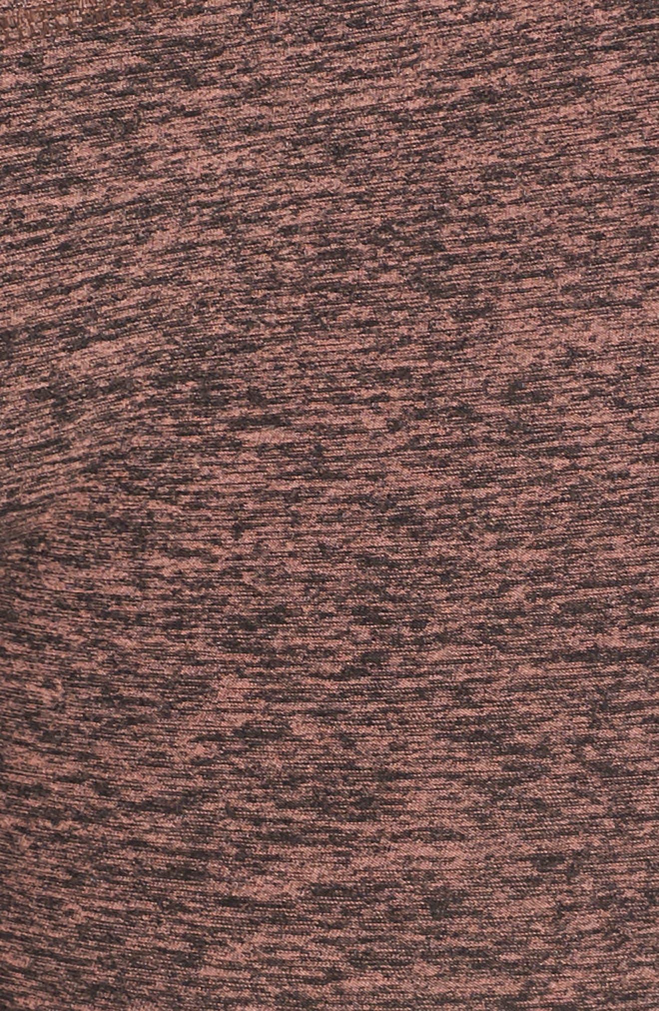 High Waist Midi Leggings,                             Alternate thumbnail 6, color,                             004
