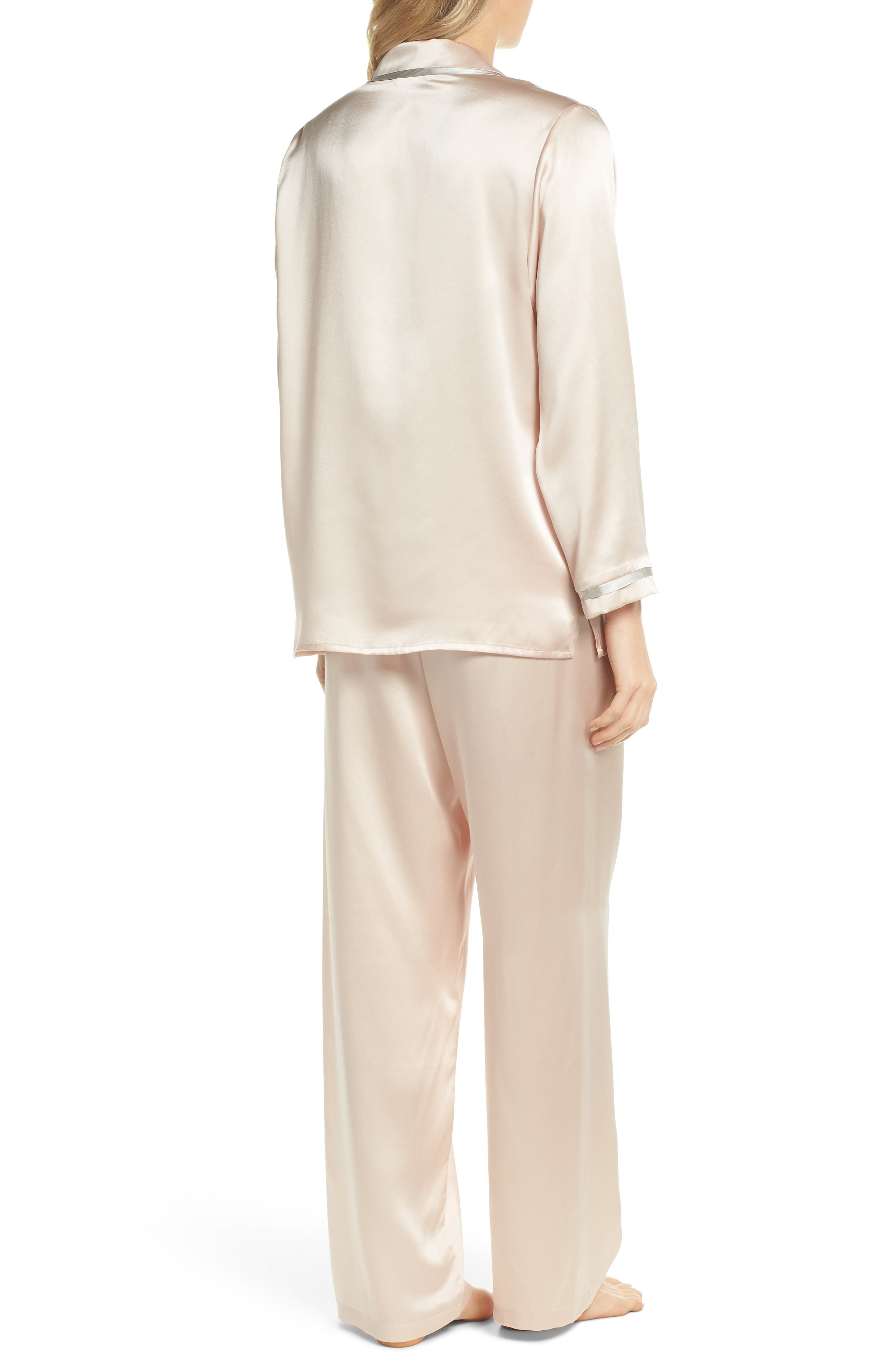 Coco Silk Pajamas,                             Alternate thumbnail 2, color,