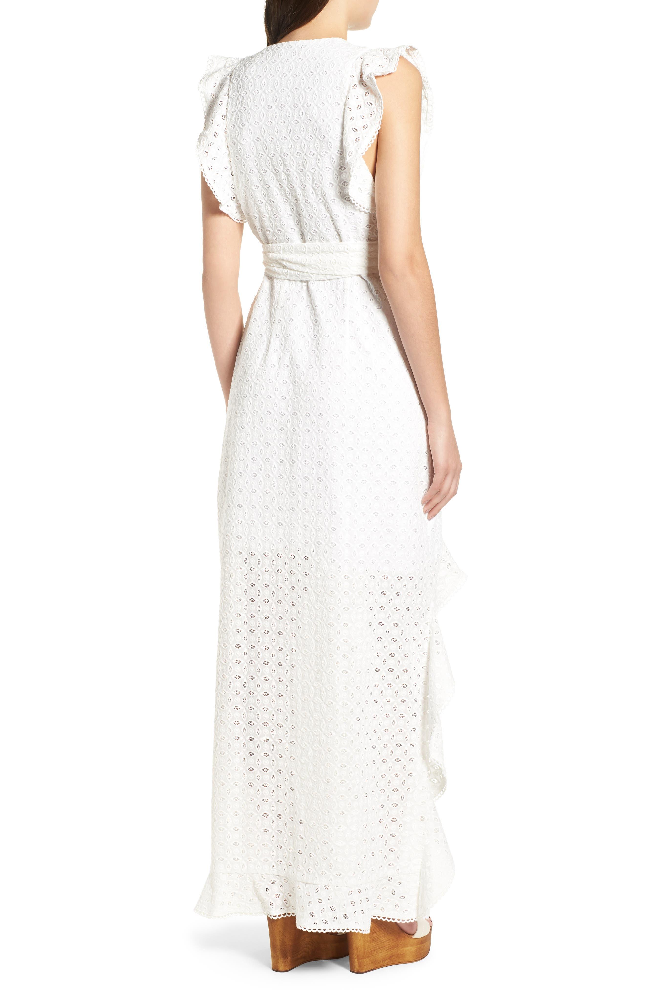 Andrea Ruffle Wrap Dress,                             Alternate thumbnail 2, color,                             101