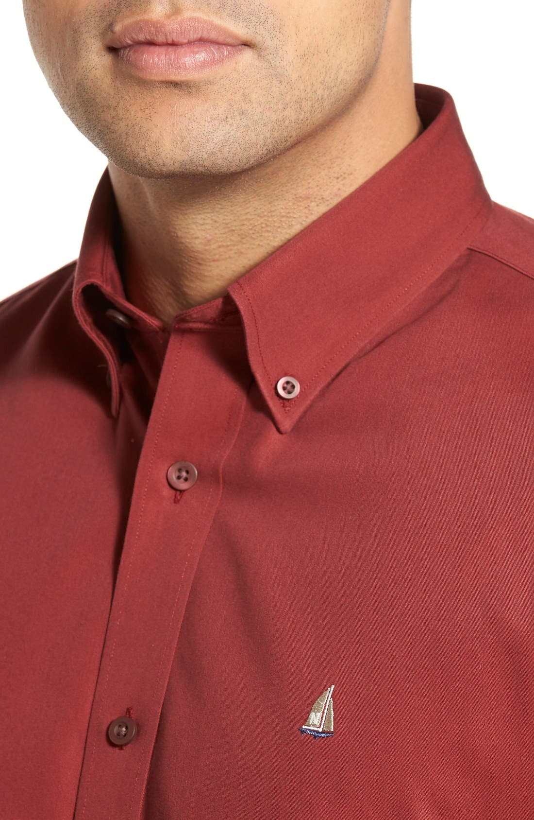 Smartcare<sup>™</sup> Traditional Fit Twill Boat Shirt,                             Alternate thumbnail 133, color,